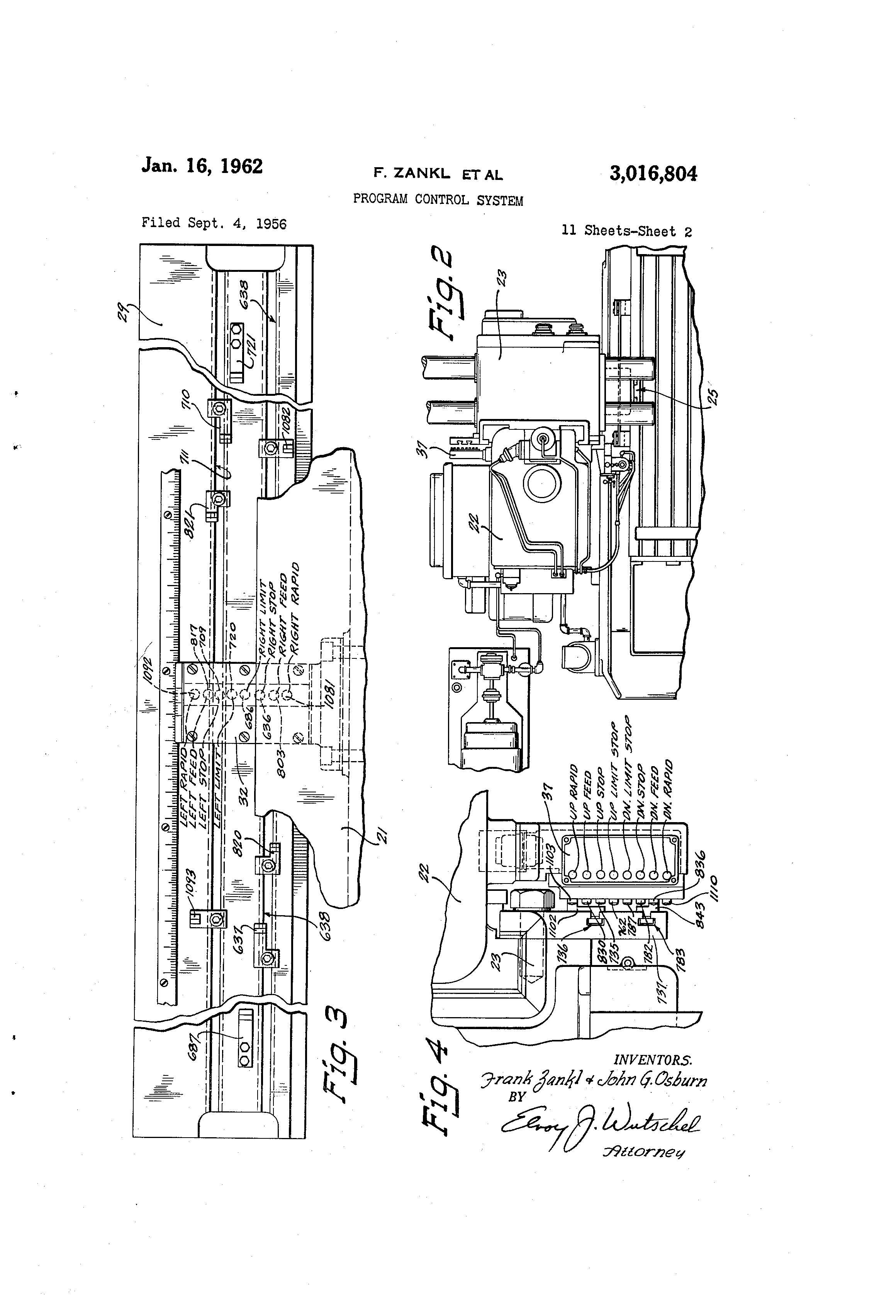 Brevet Us3016804 Program Control System Google Brevets The Hydraulic Pressure Circuit Controlcircuit Patent Drawing