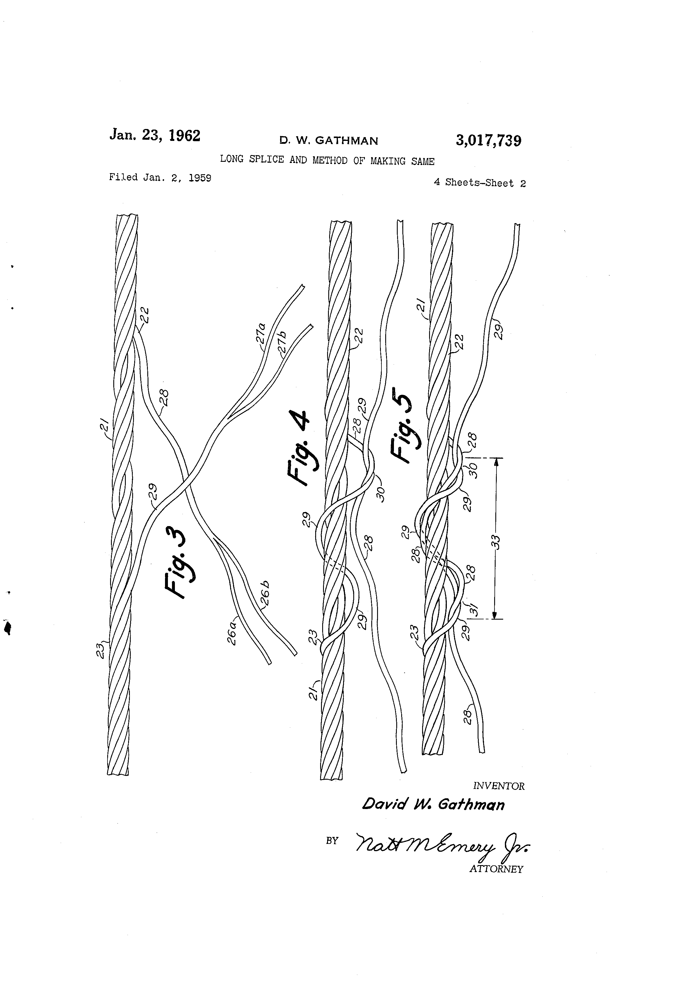 Patent US3017739 - Long splice and method of making same - Google ...