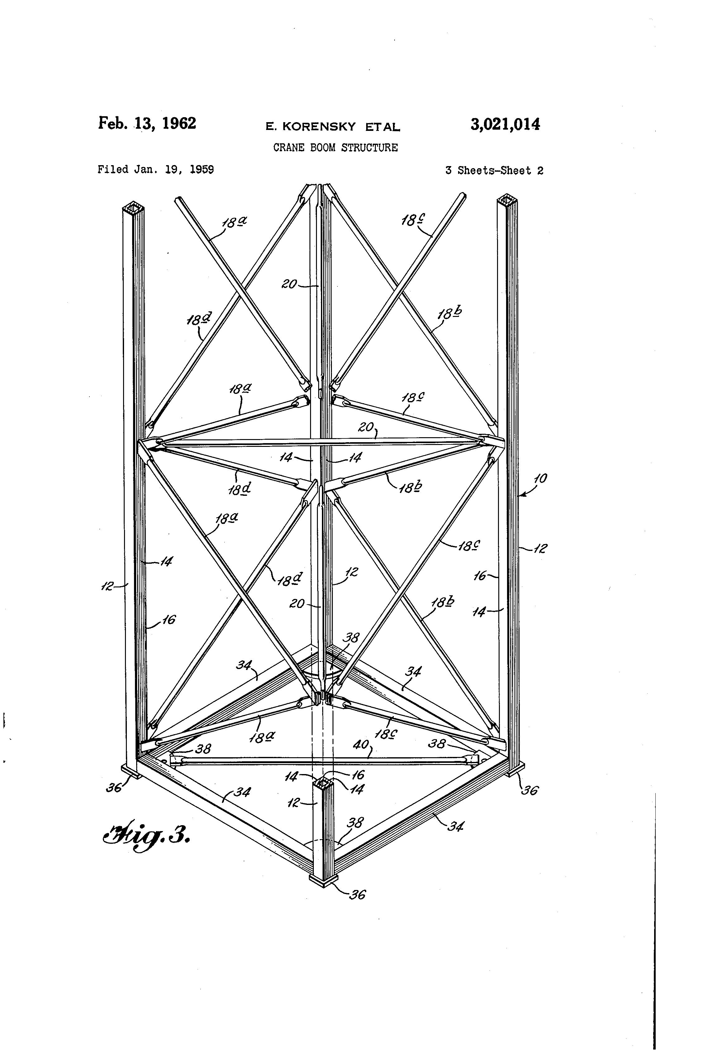 patent us3021014 - crane boom structure
