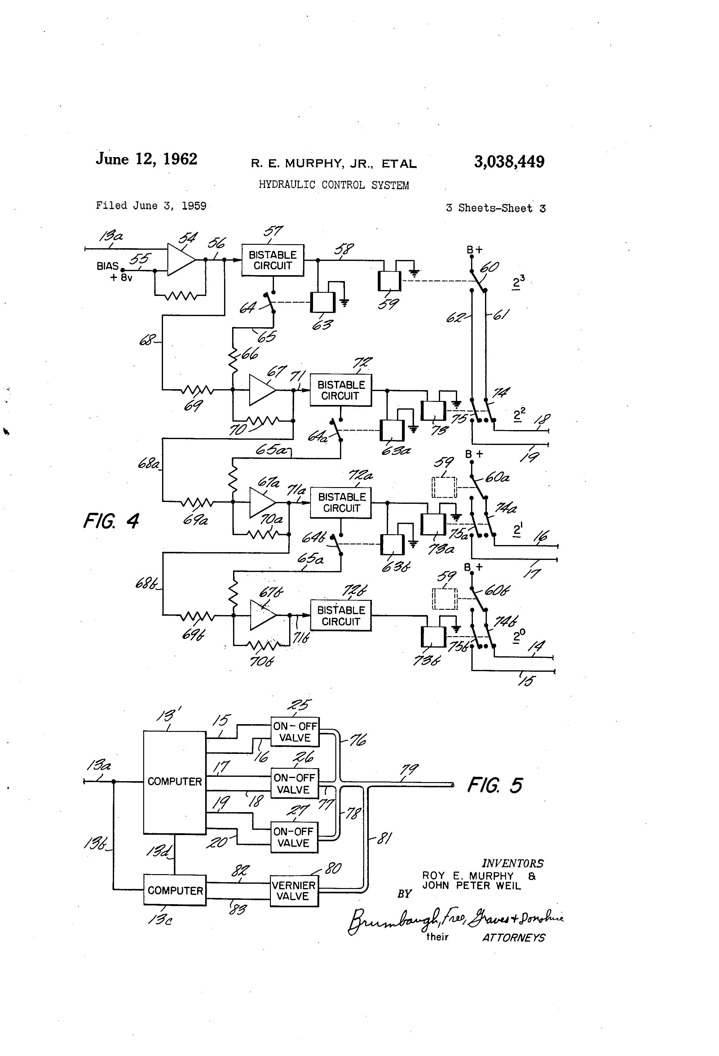 patent us3038449 - hydraulic control system