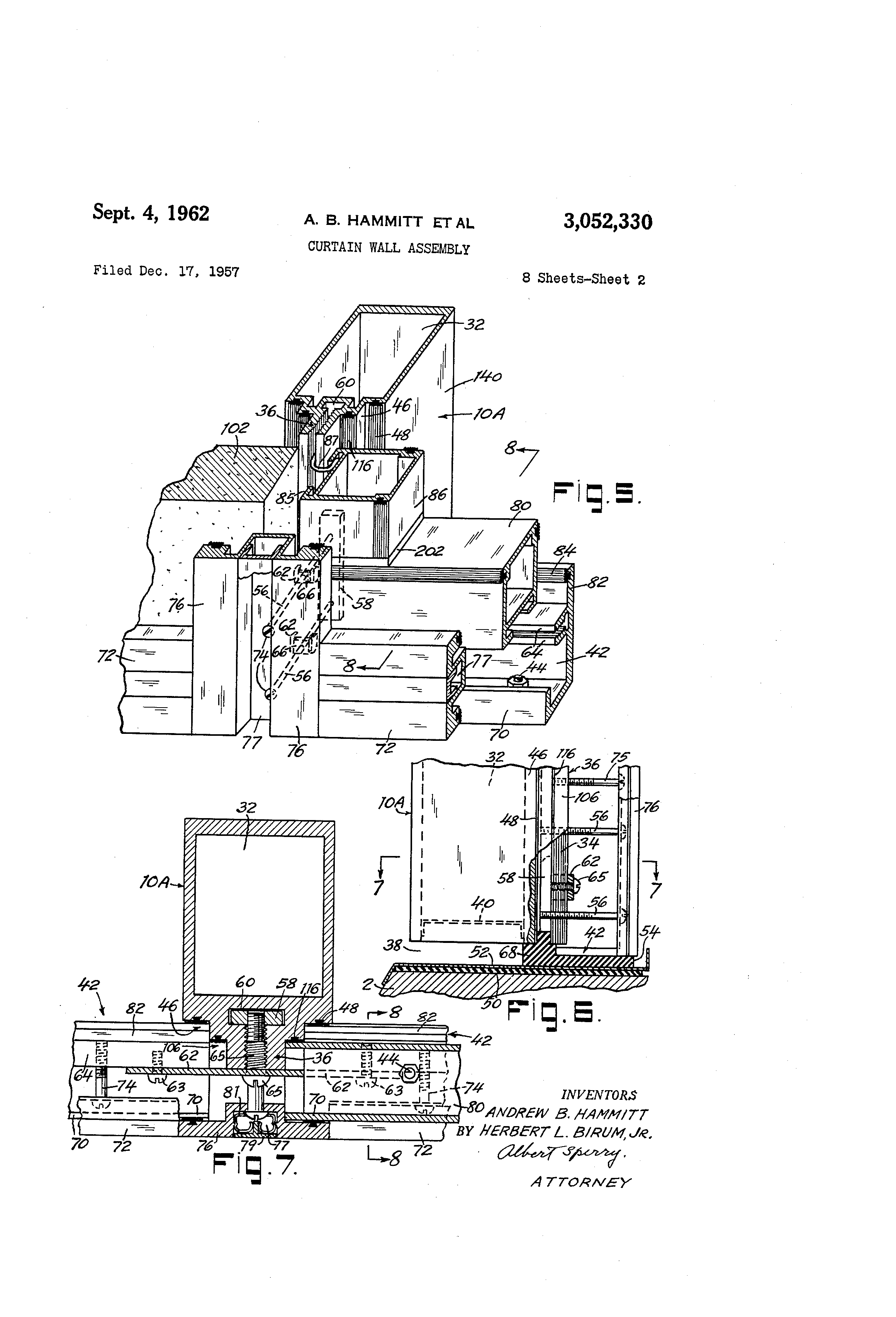 Cupples Curtain Wall : Patent us curtain wall assembly google patents
