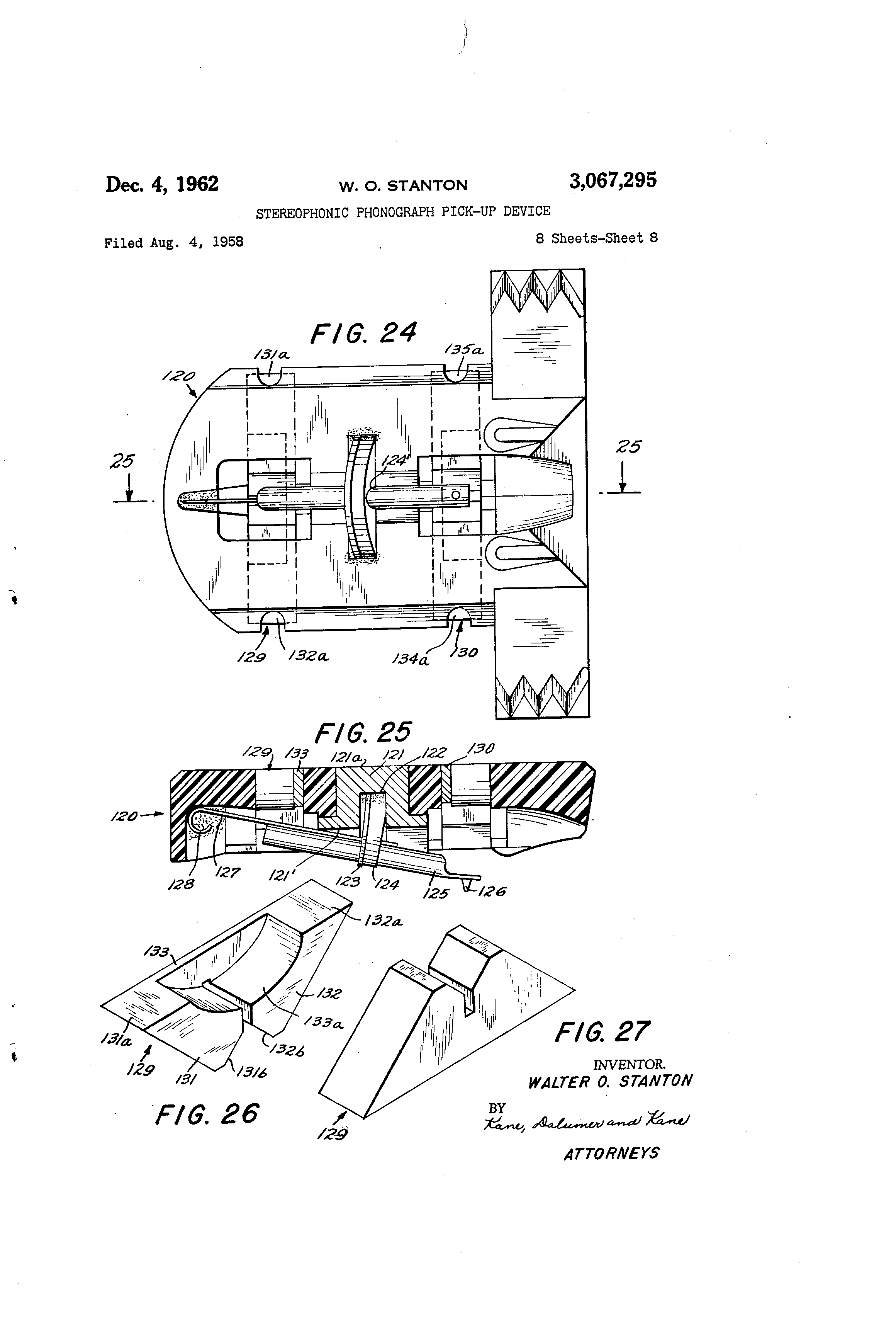 Patent Us3067295 Stereophonic Phonograph Pick Up Device Google Fiat Allis 65 B Wiring Diagram Drawing
