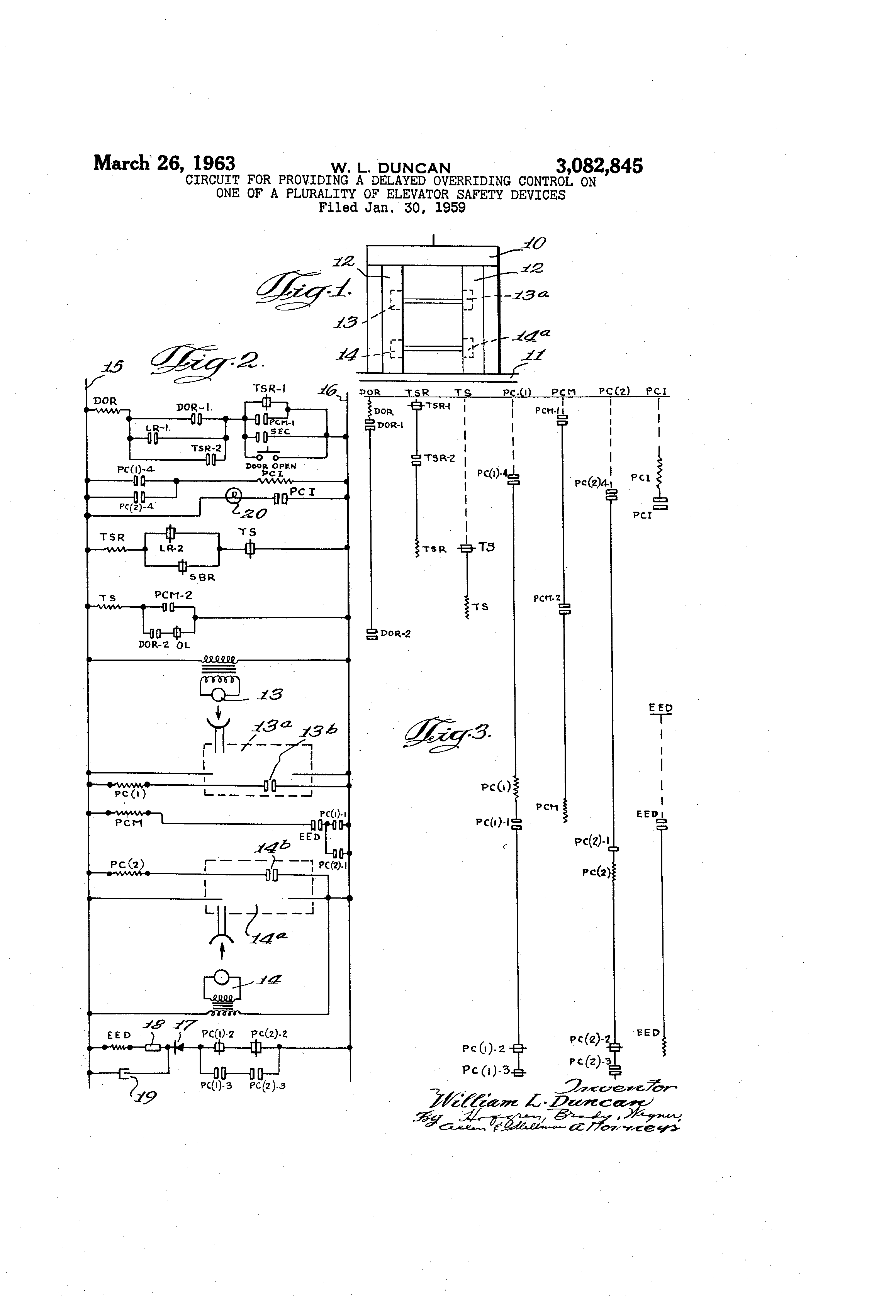 Patent Us3082845 Circuit For Providing A Delayed Overriding Delay Momentary Page 2 Drawing Previous