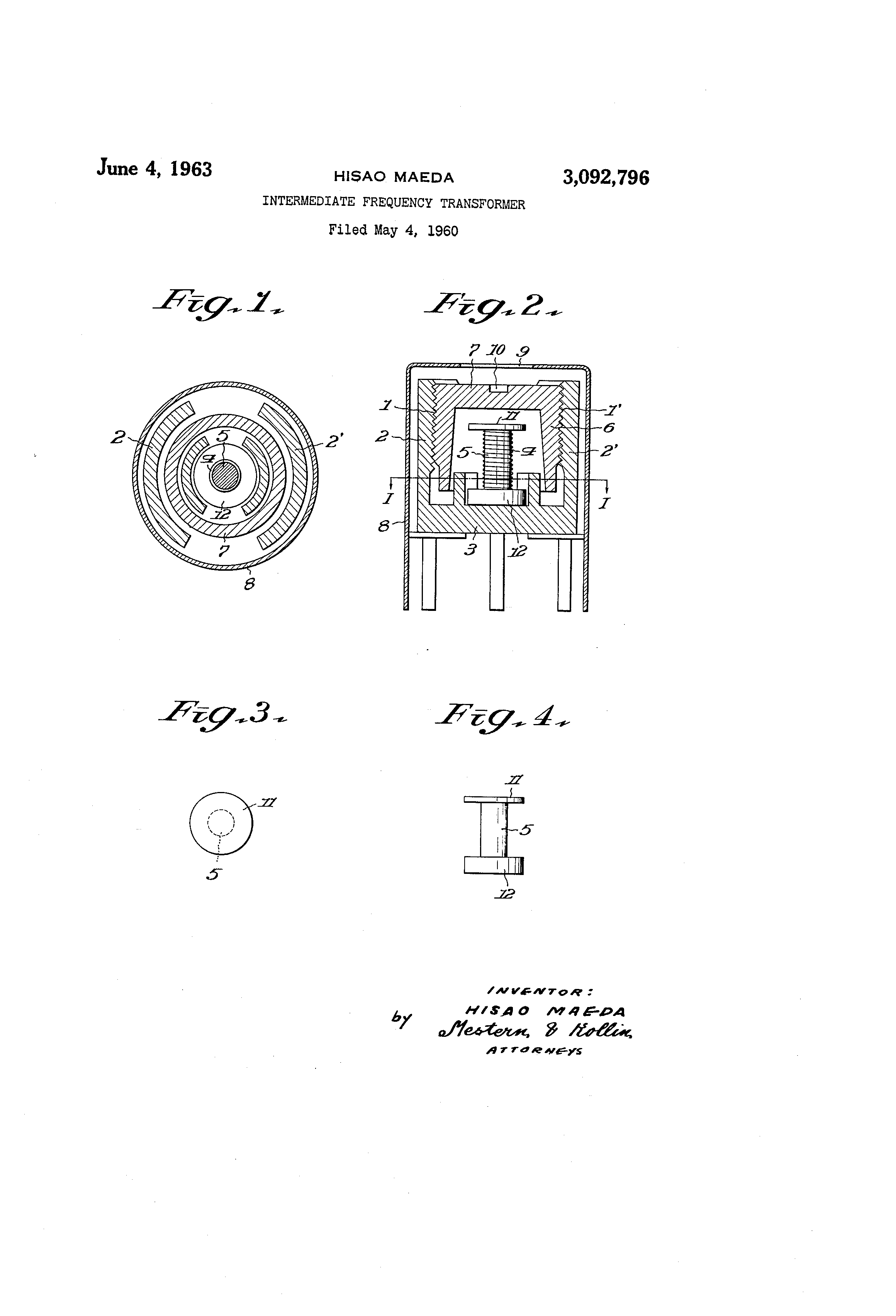 USA - Intermediate frequency transformer - Google Patents