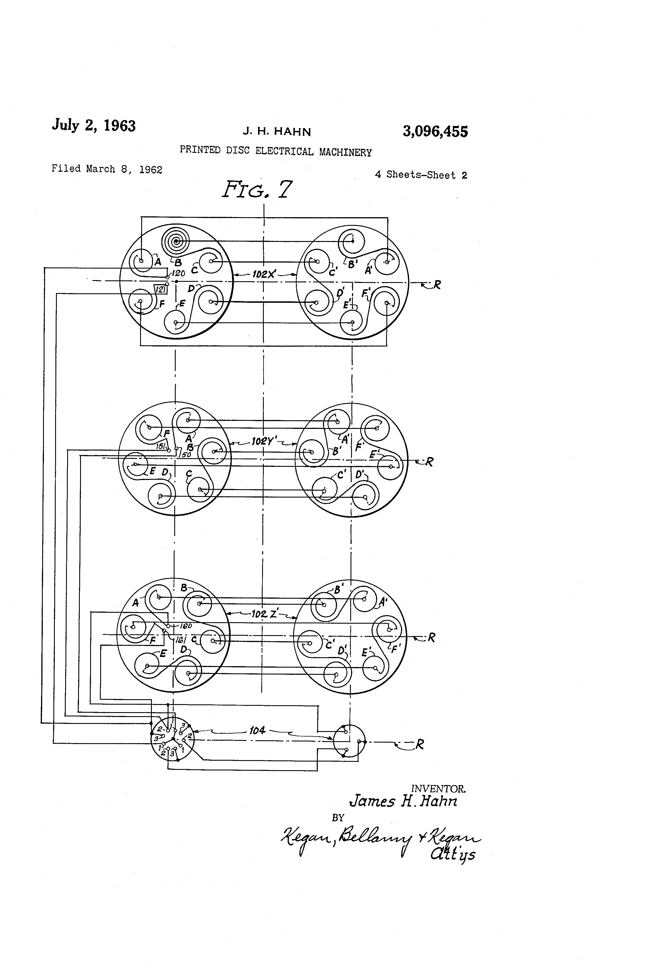 Patent Us3096455 Printed Disc Electrical Machinery Google Patents Schematic Diagram Of Disk Dynamo Drawing