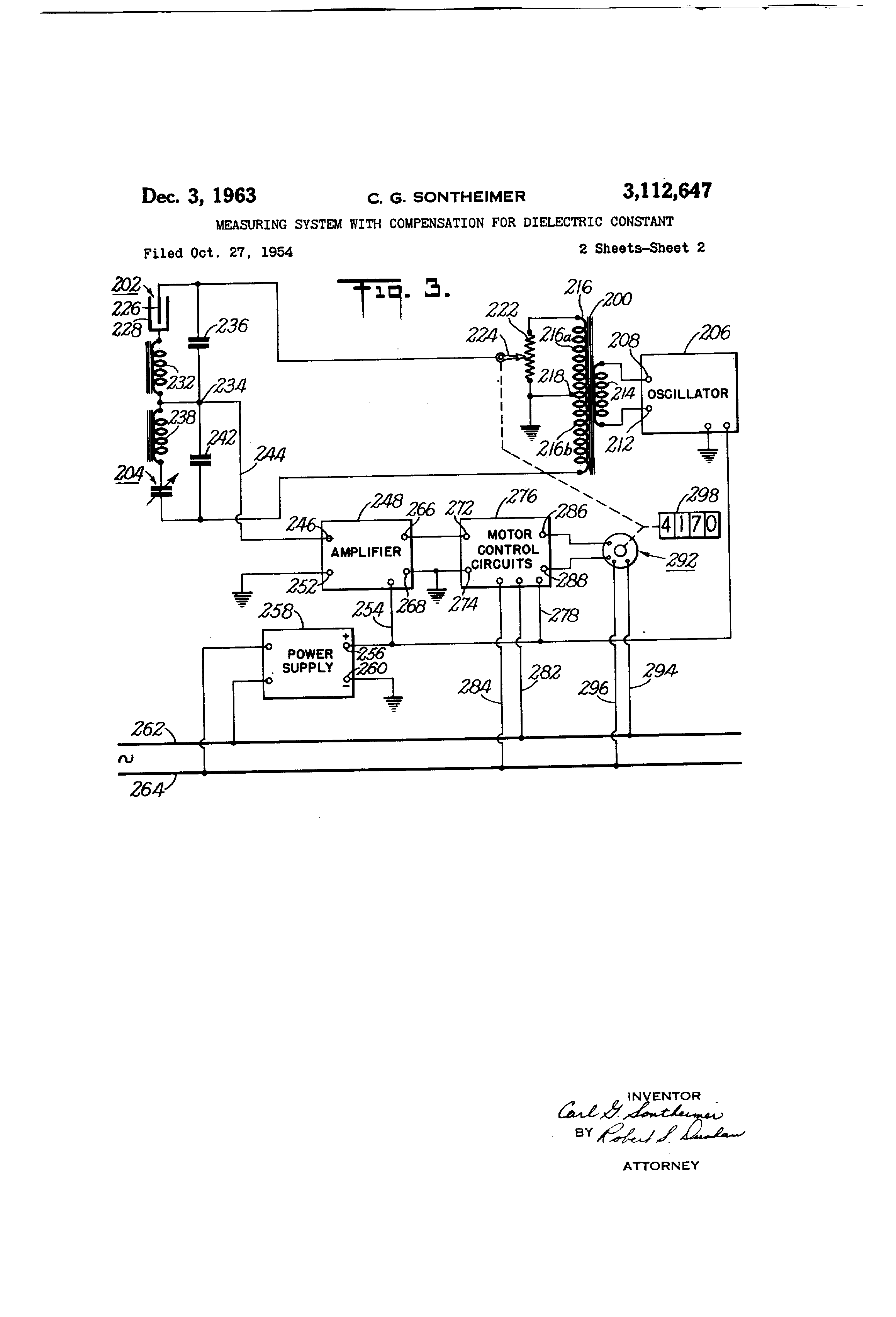 Patent Us3112647 Measuring System With Compensation For Dielectric Measurement By Change In Constant Using Resonance Circuit Drawing