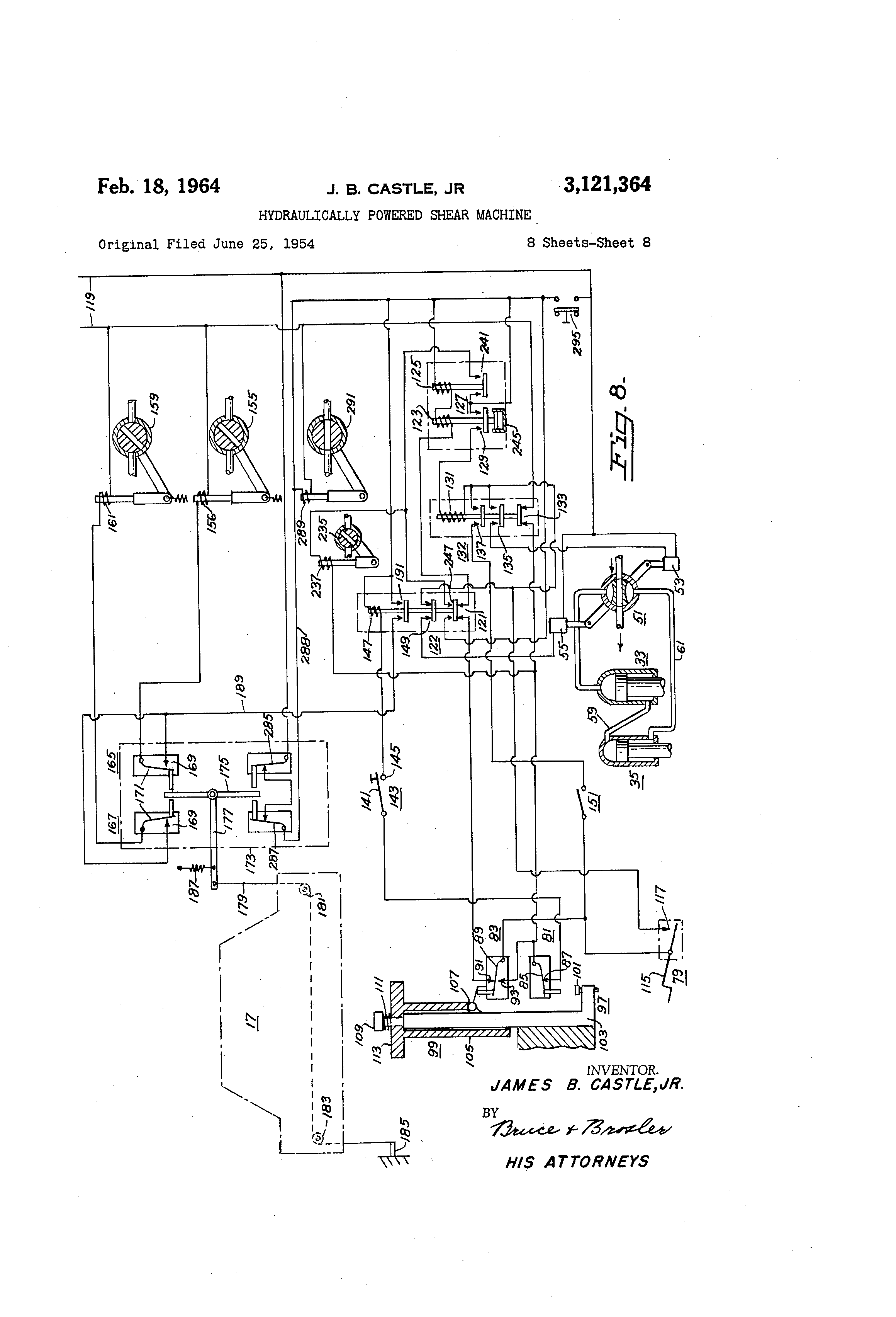 Patent us hydraulically powered shear machine