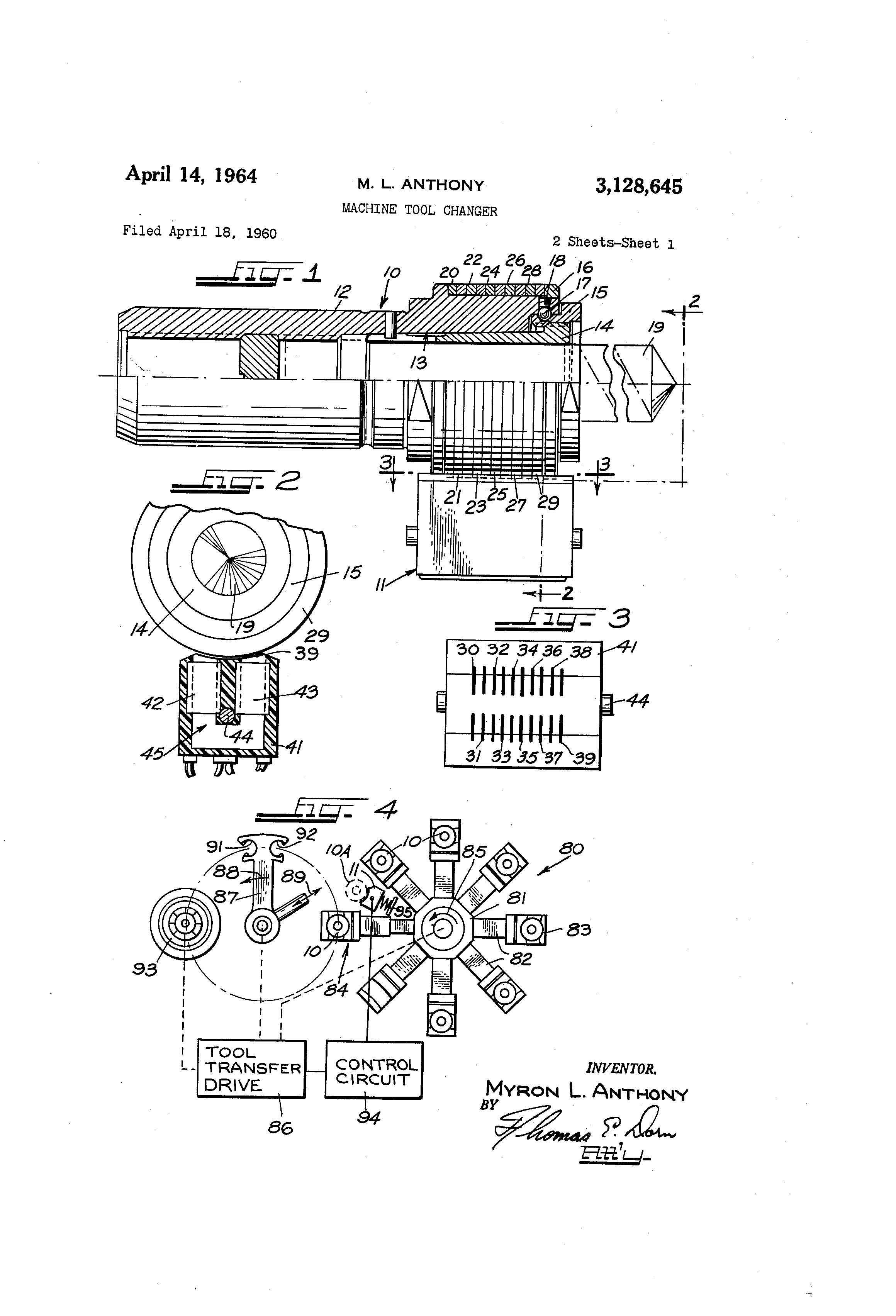 Patent Us3128645 Machine Tool Changer Google Patents Datacontrolled Variable Frequency Oscillator Oscillatorcircuit Drawing