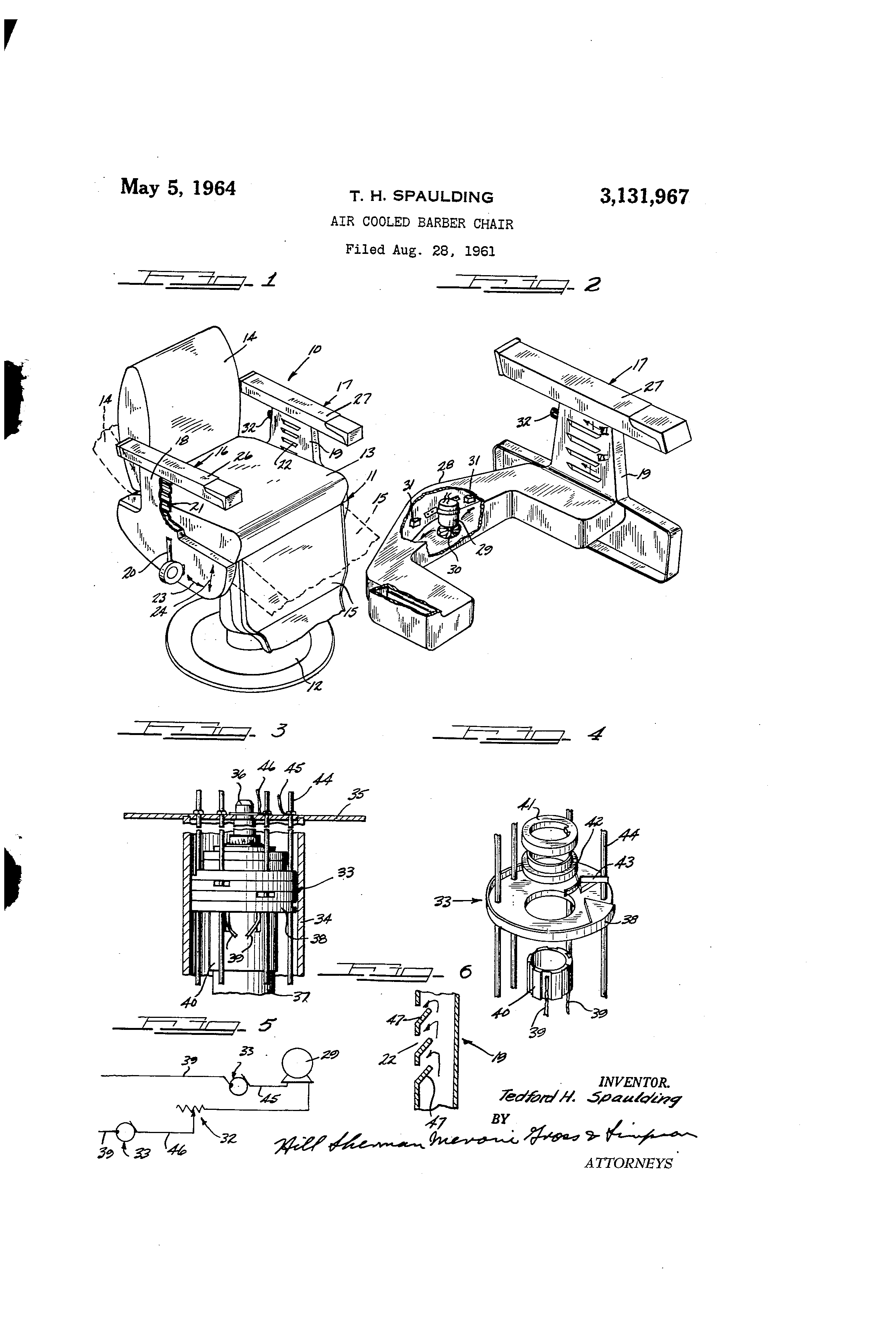 Patent us3131967 air cooled barber chair google patents