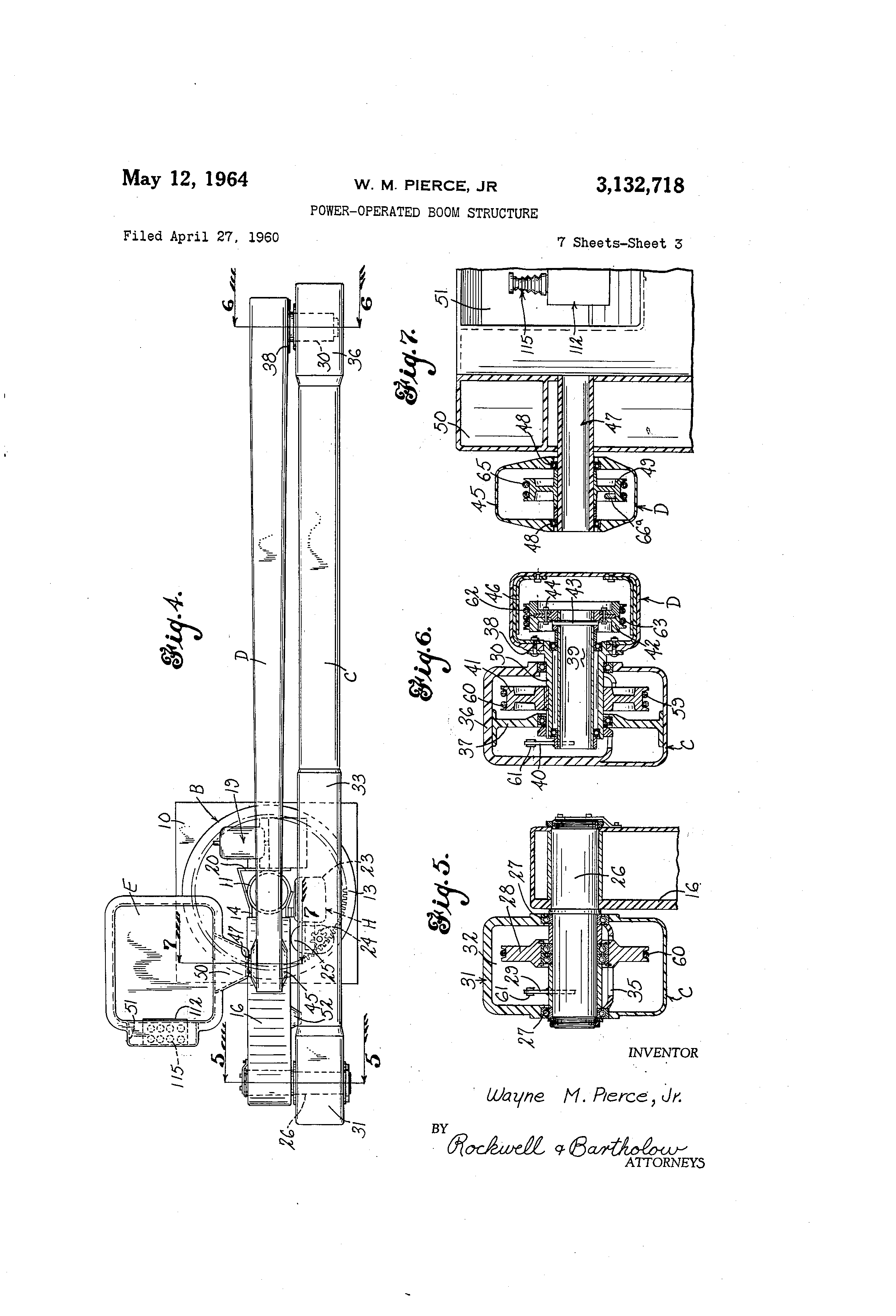 patent us3132718 power operated boom structure patents