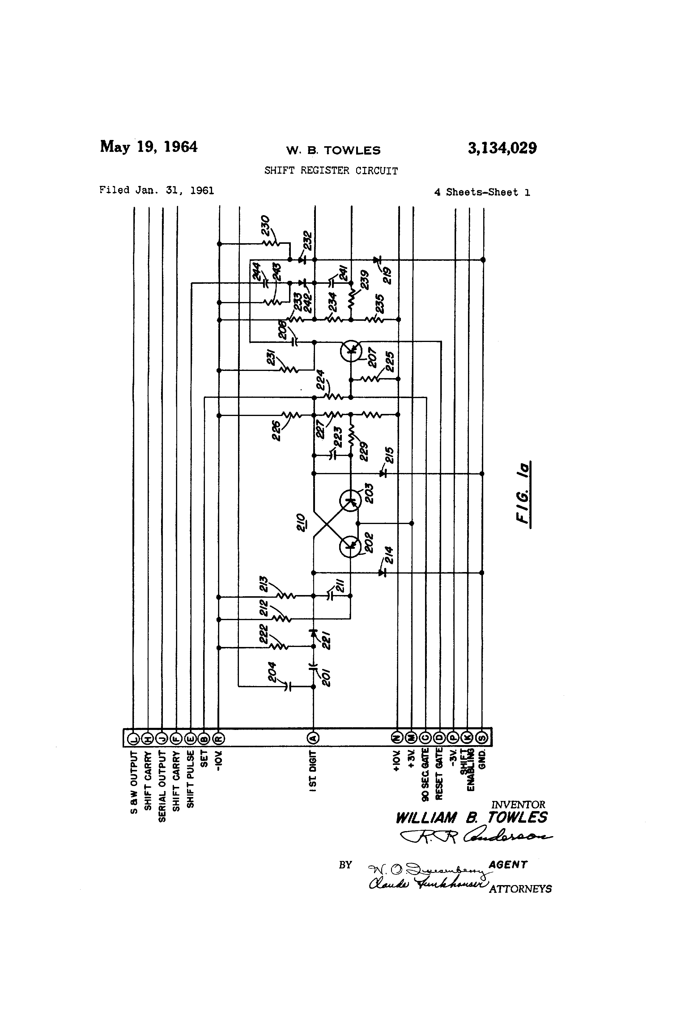 Patent Us3134029 Shift Register Circuit Google Patents Diagram Drawing
