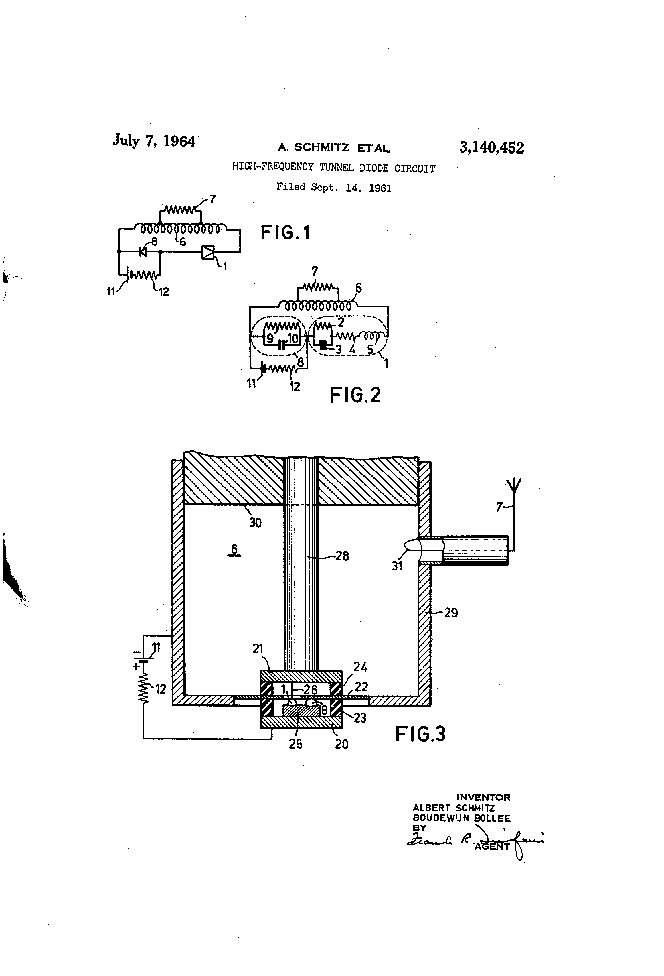 Patent Us3140452 High Frequency Tunnel Diode Circuit Google Example Smoothing Capacitor Drawing