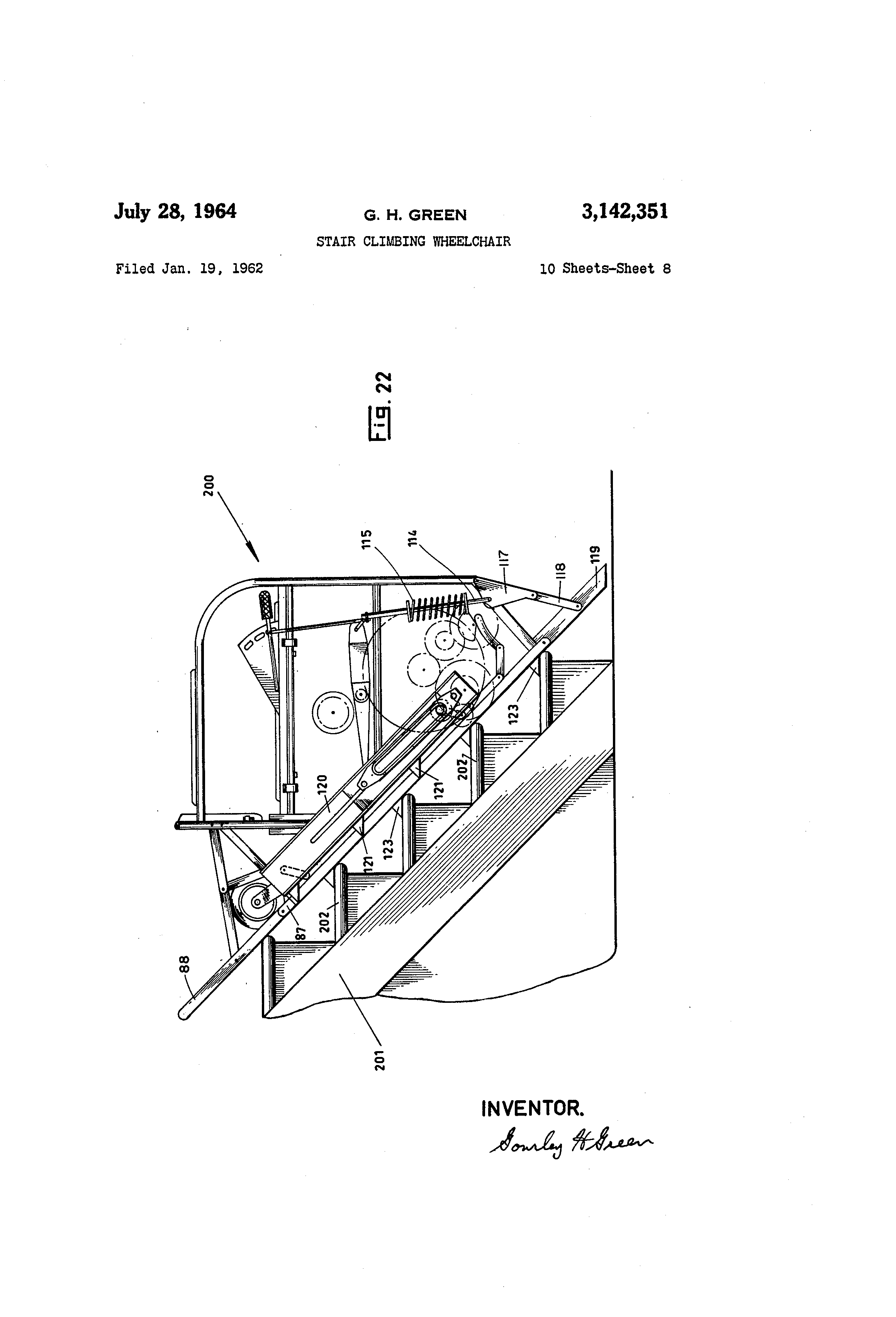 patent us3142351 stair climbing wheelchair google patentsuche