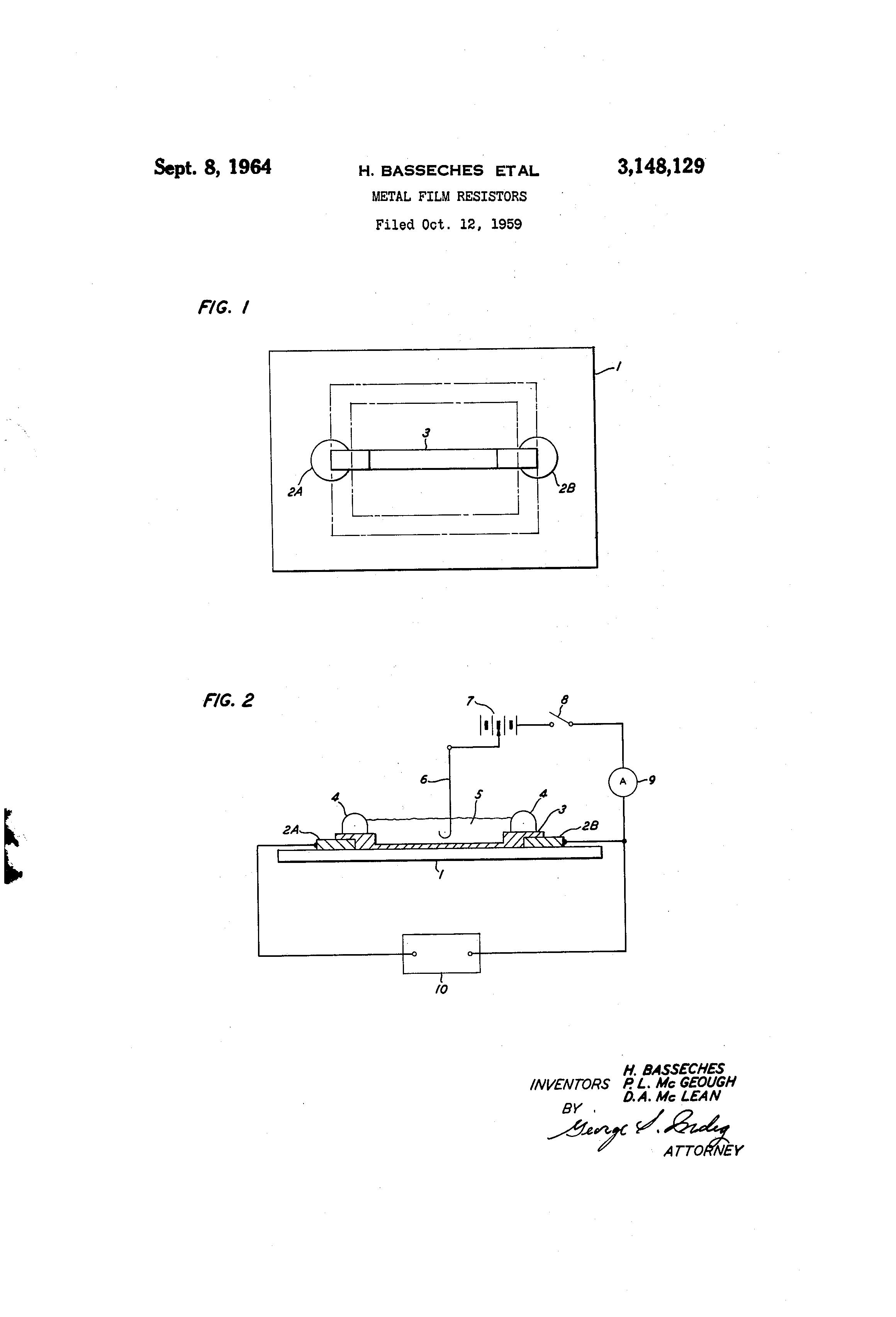 patent us3148129 metal film resistors google patents rh google com pg