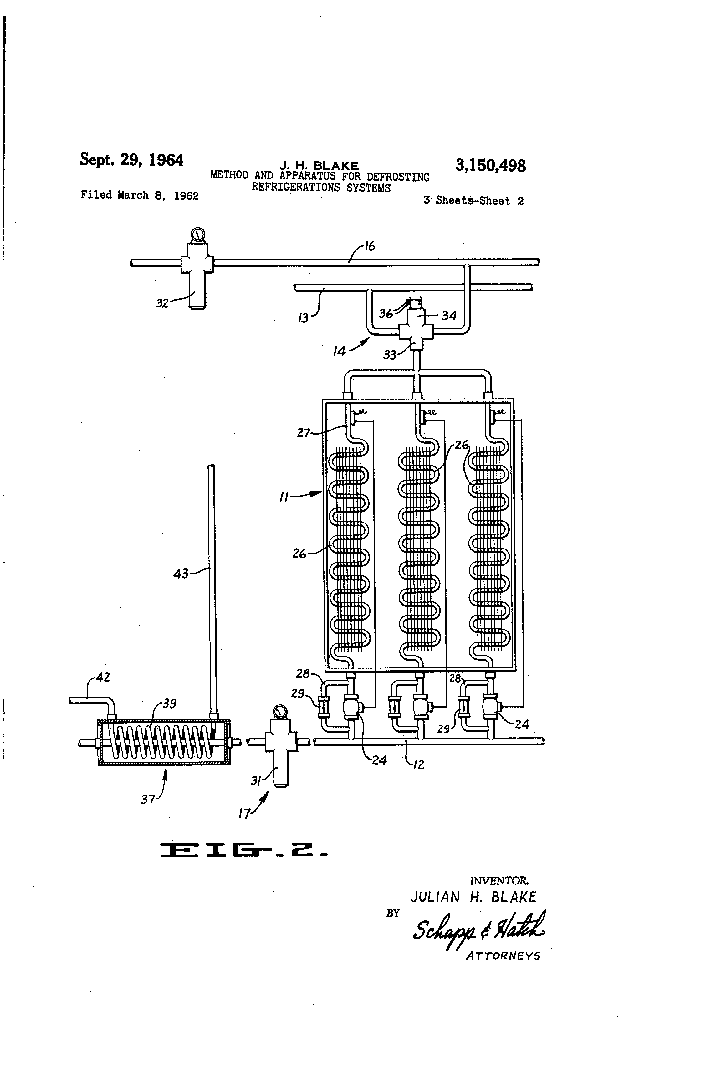 Patent Us3150498 Method And Apparatus For Defrosting Refrigeration Keeprite Units Wiring Diagram Drawing