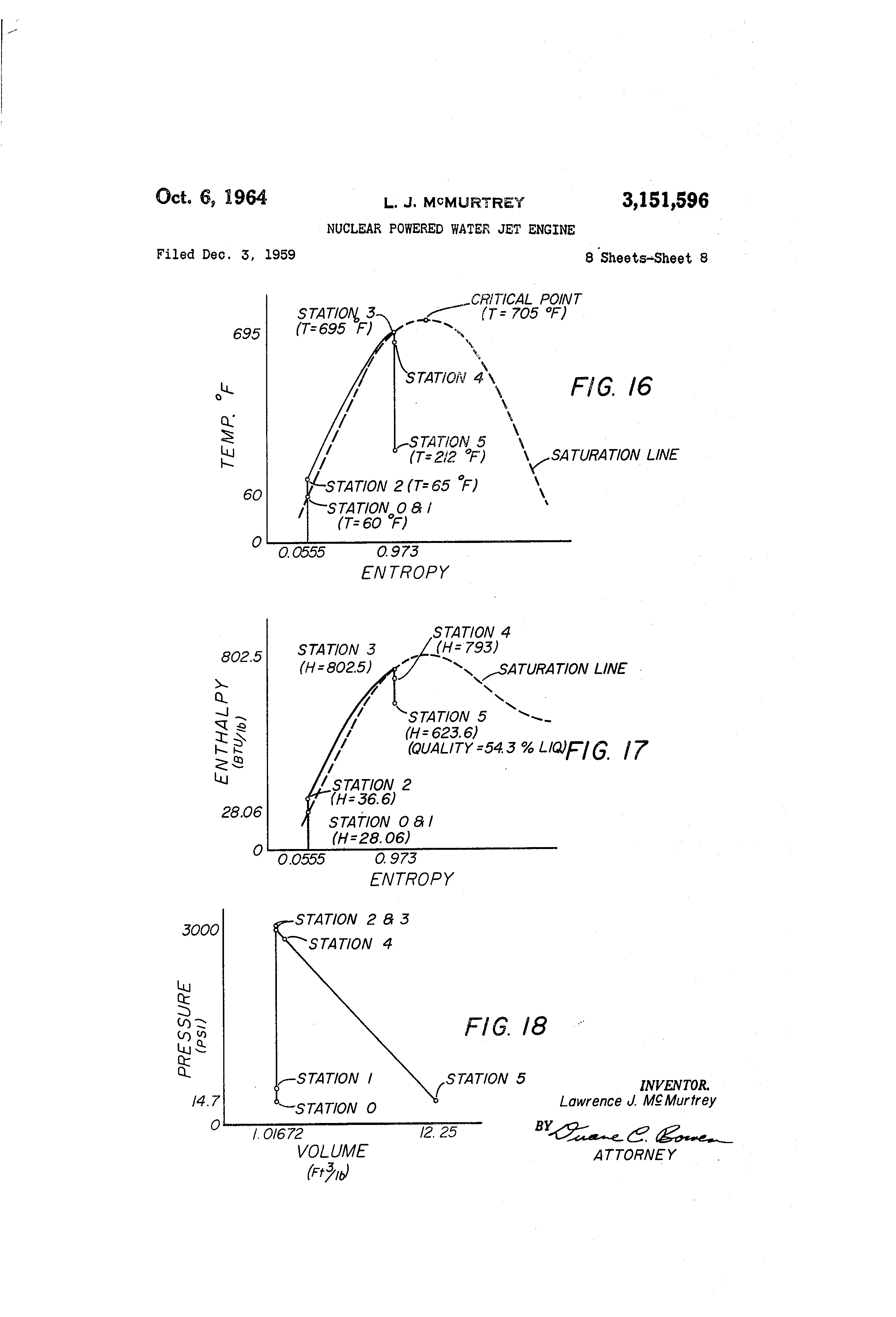 Patent Us3151596 Nuclear Powered Water Jet Engine Google Patents Diagram Drawing