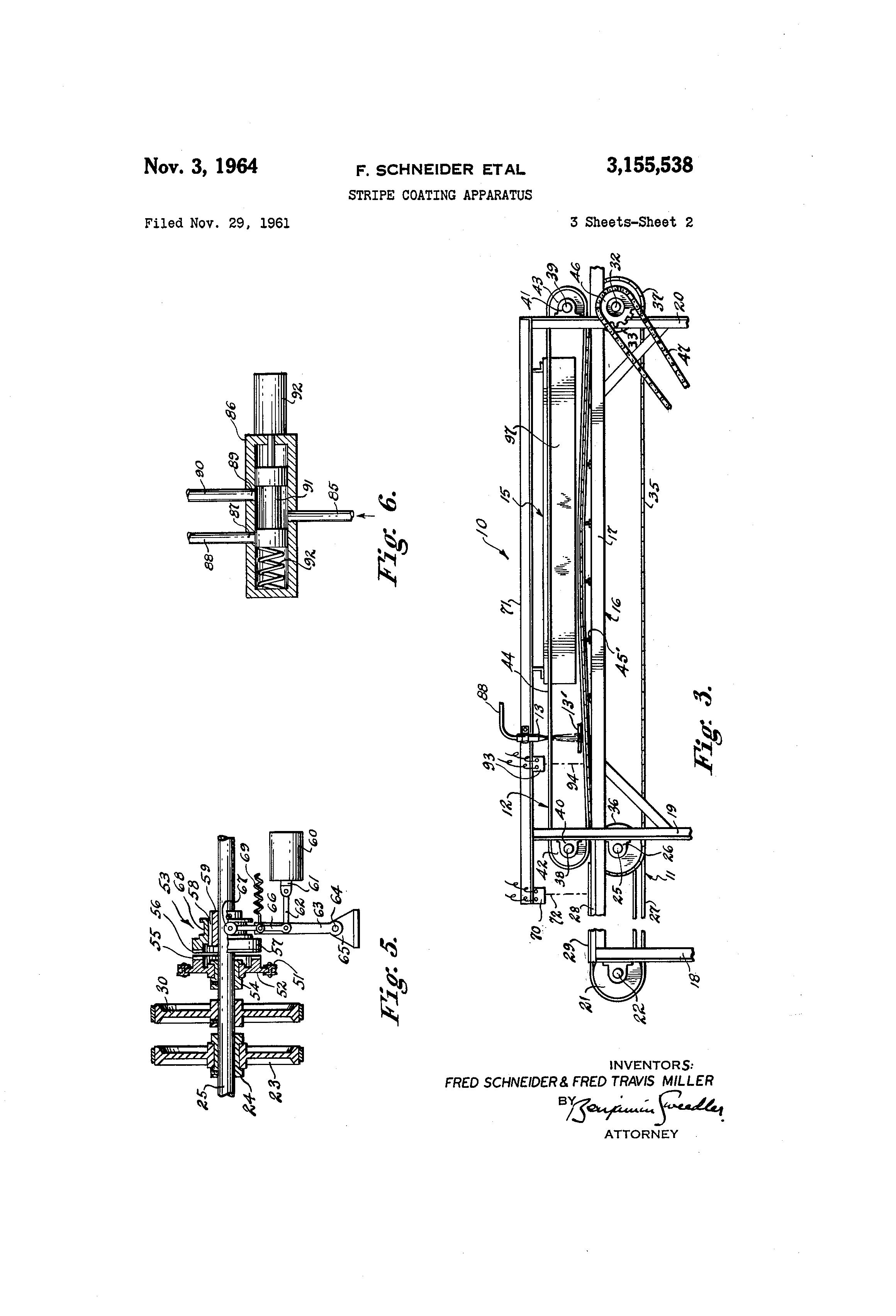 patent us3155538 - stripe coating apparatus