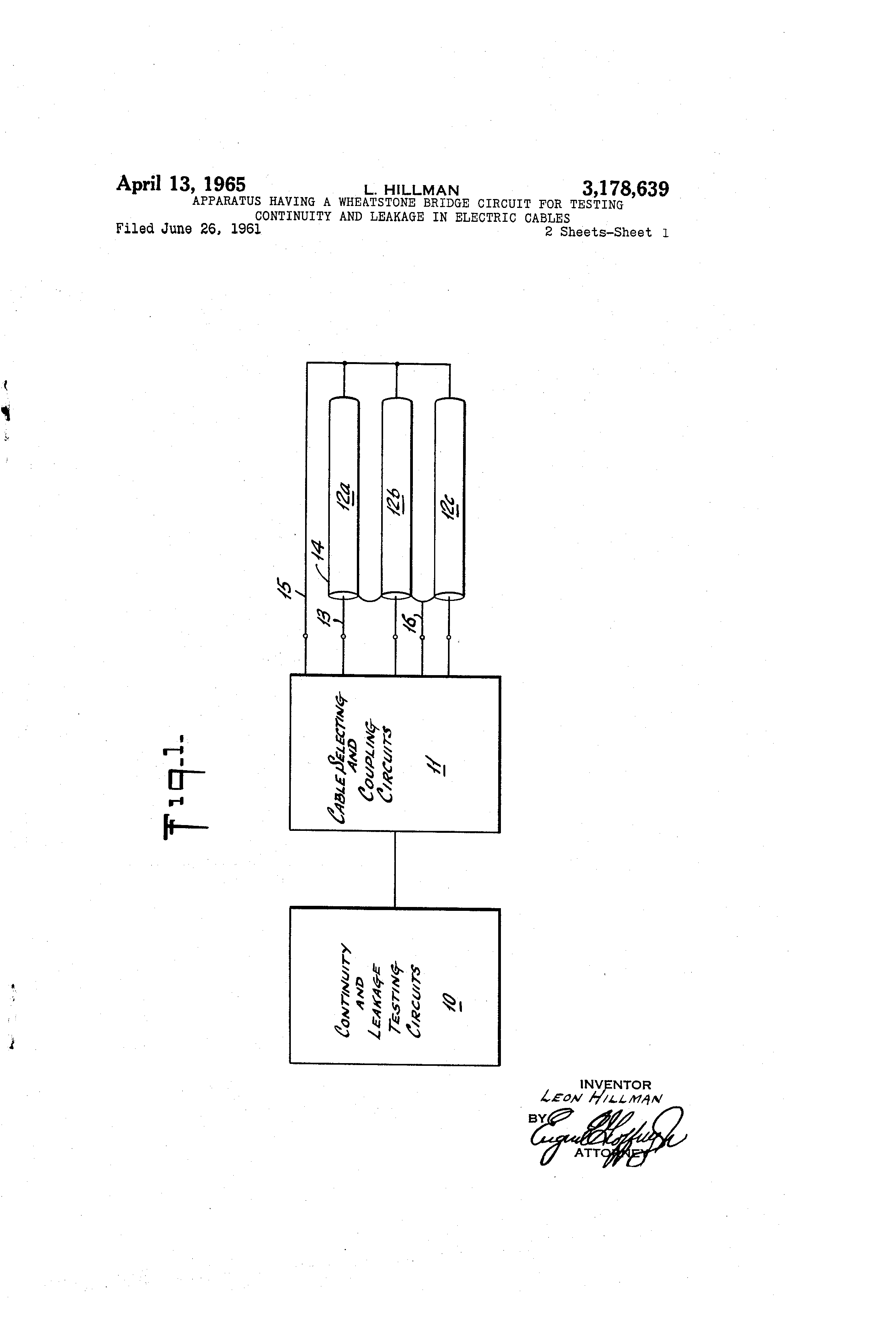 Patent Us3178639 Apparatus Having A Wheatstone Bridge Circuit For Check Continuity On The Start Windings Between Black And Drawing
