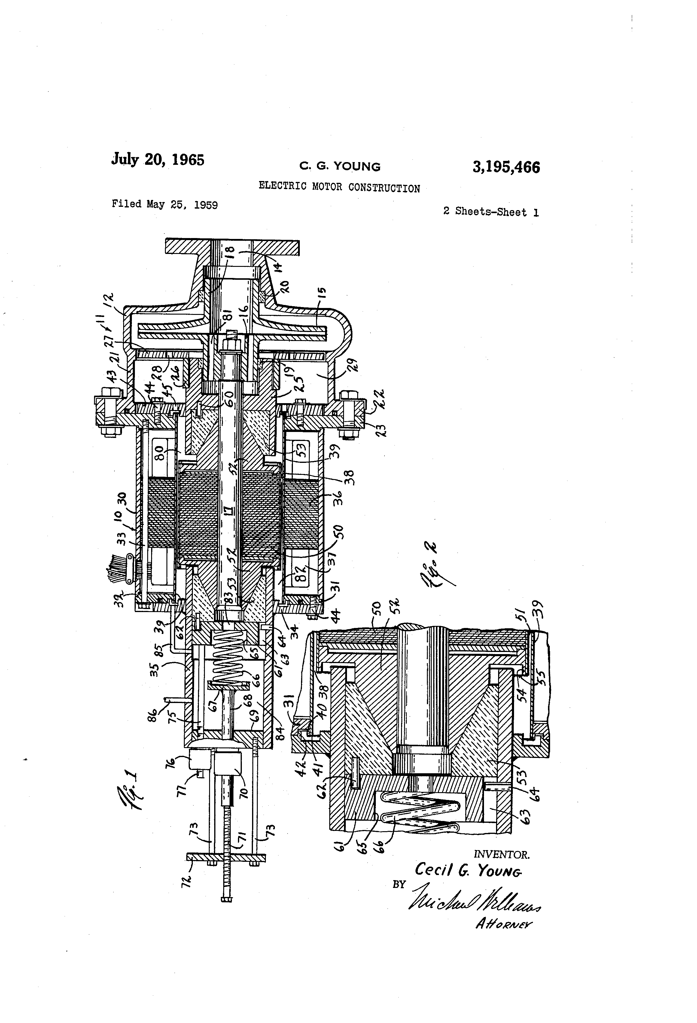 patent us3195466 - electric motor construction