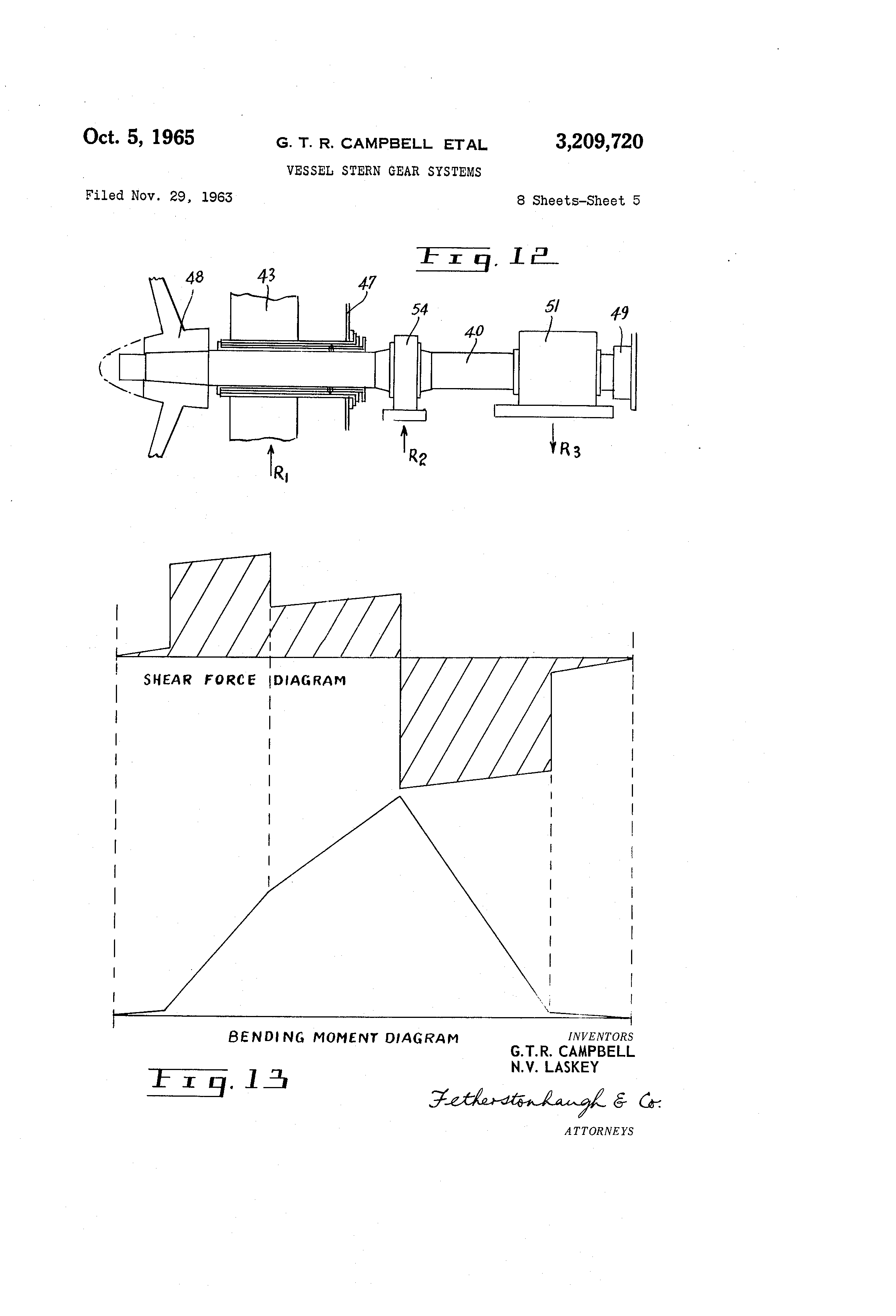 Patent Us3209720 Vessel Stern Gear Systems Google Patents Drawing Moment Diagram