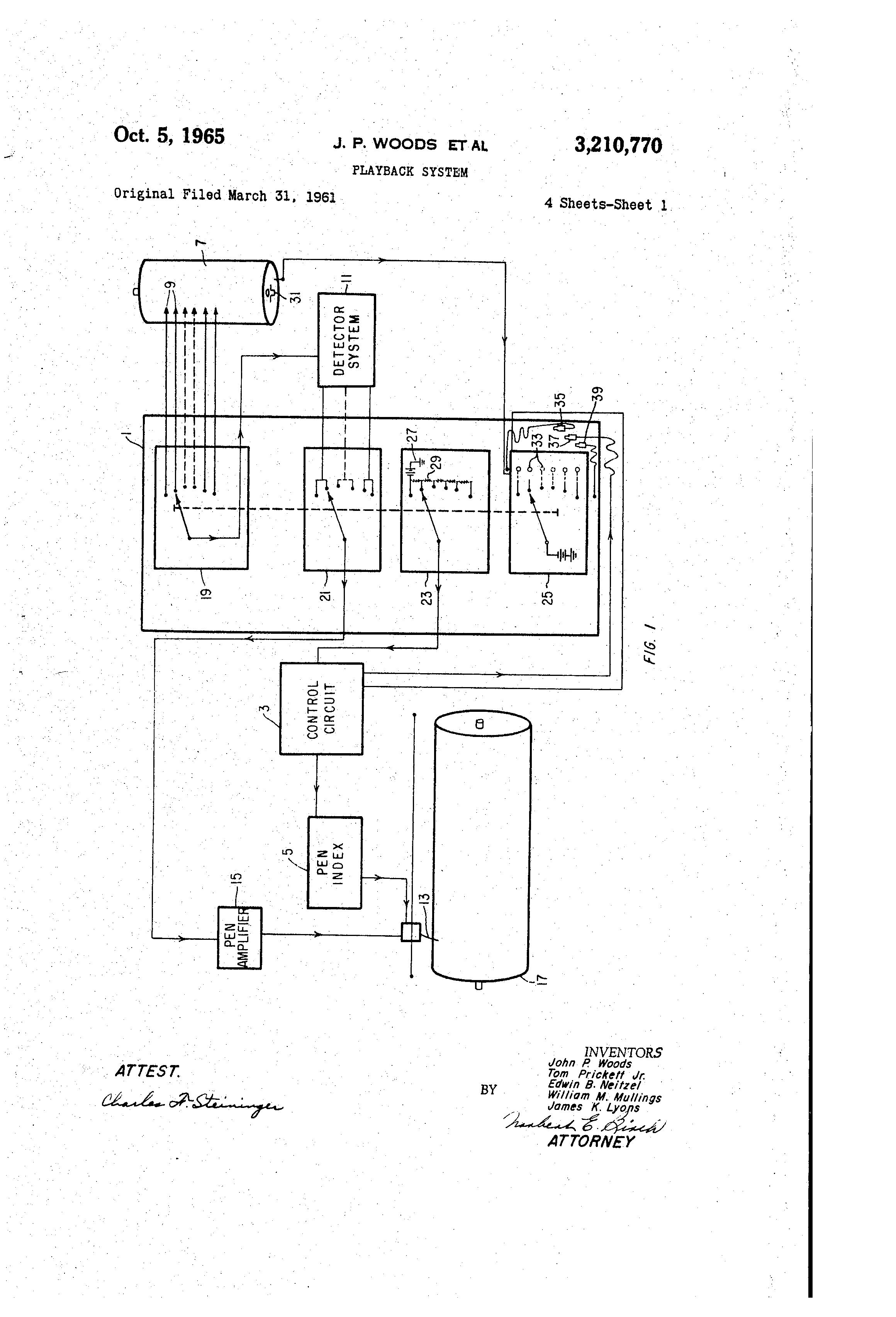 Patent Us3210770 Playback System Google Patents Servo Control Circuit Of Dc Motor Controlcircuit Diagram Drawing