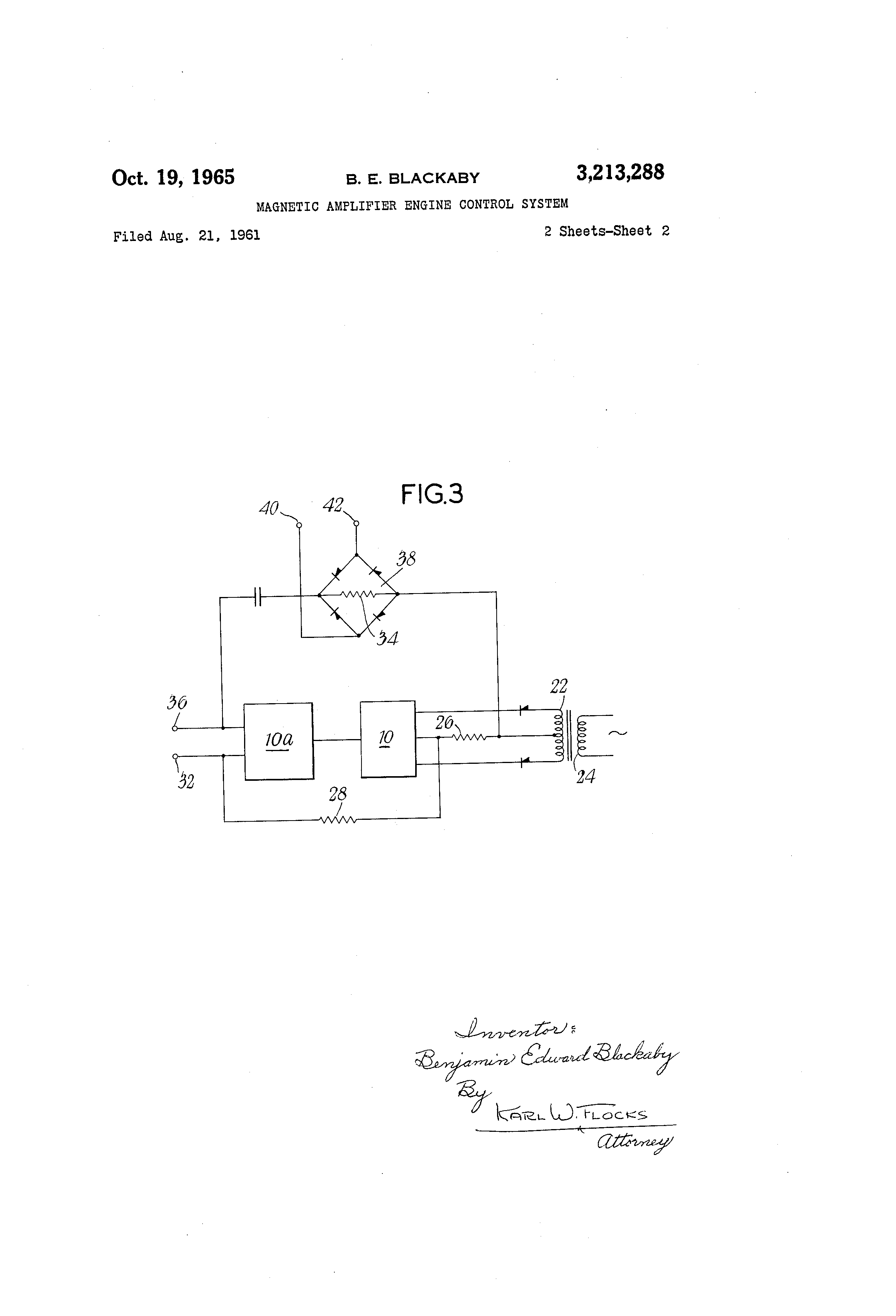 Patent Us3213288 Magnetic Amplifier Engine Control System Google Diagram Drawing