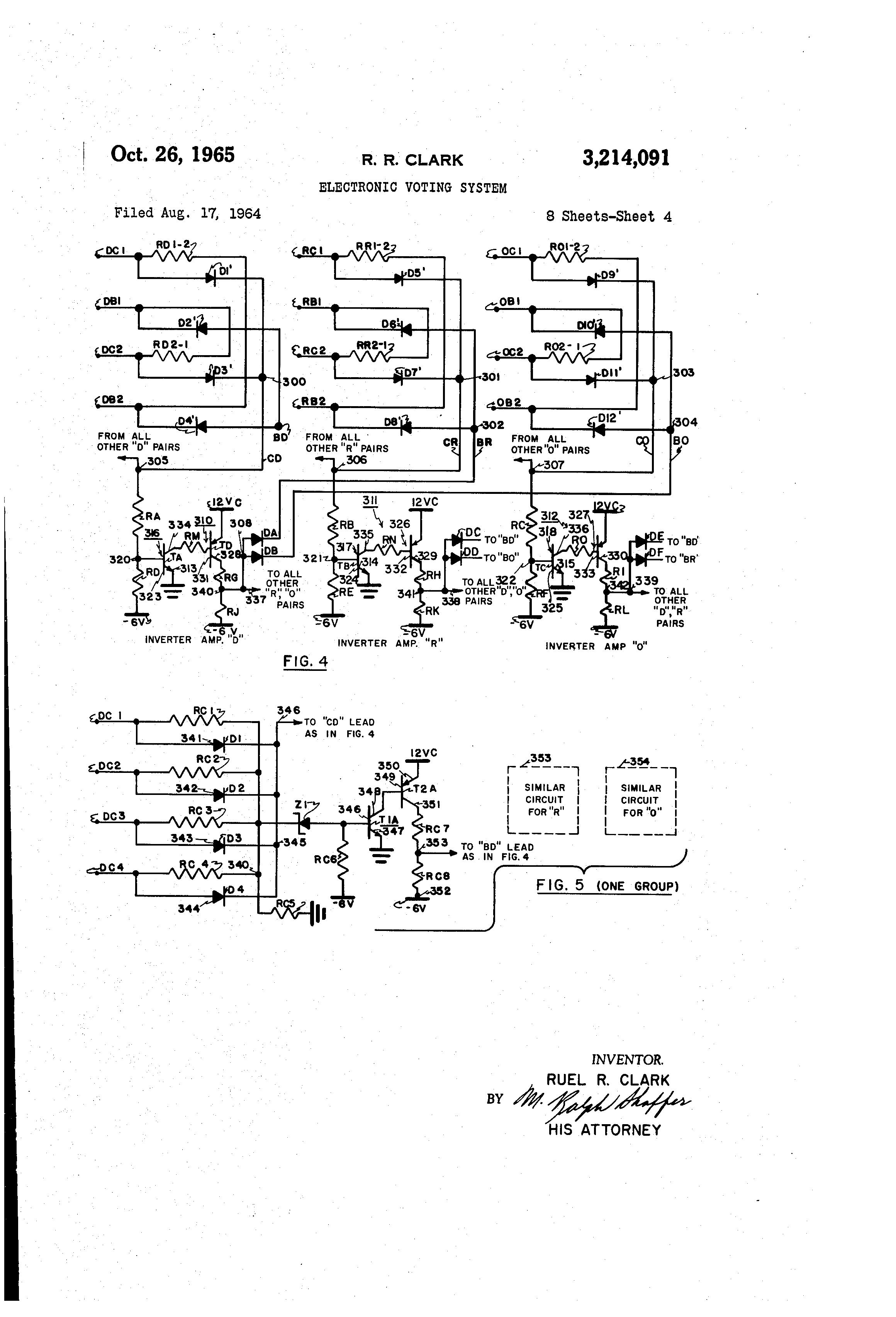 patent us3214091 - electronic voting system