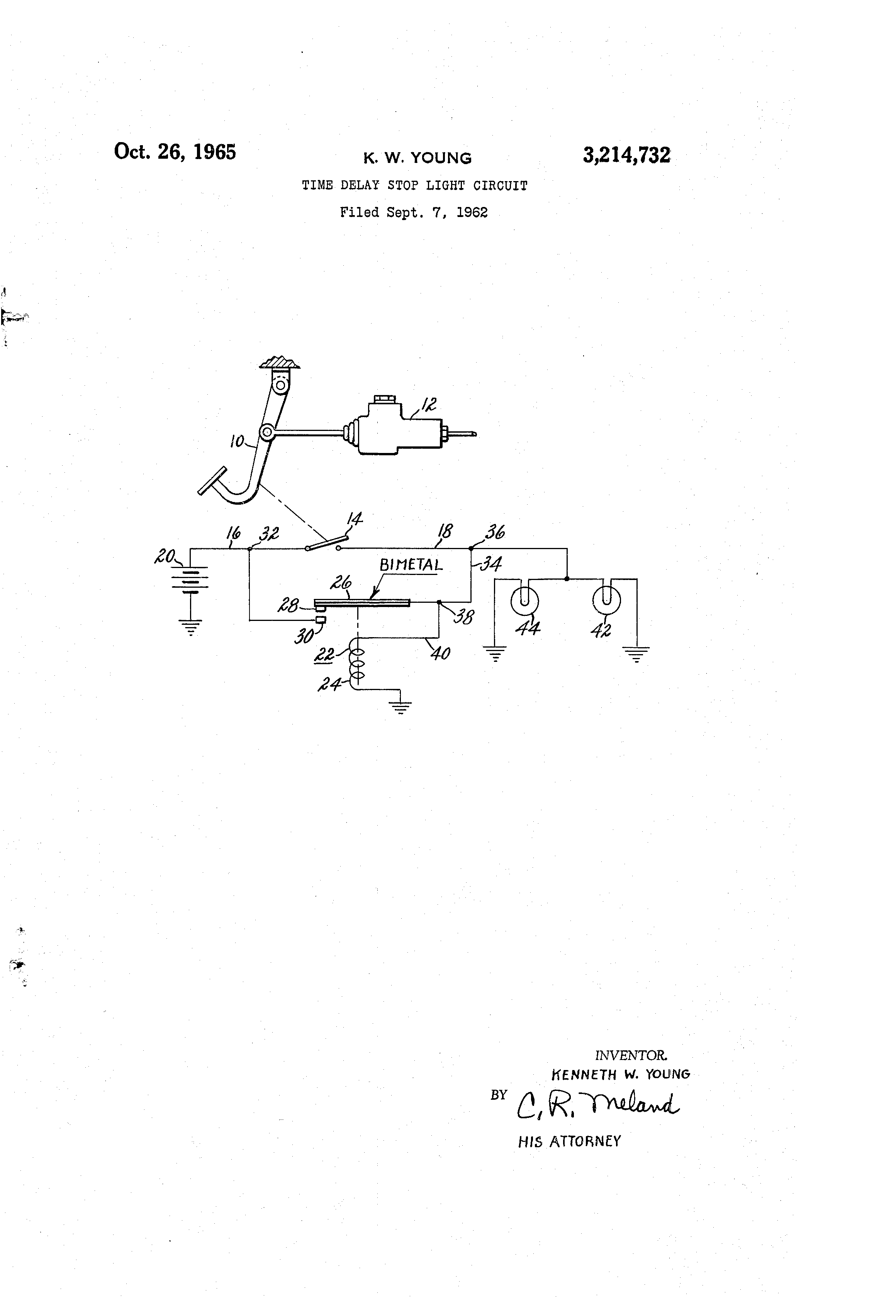 Brevet Us3214732 Time Delay Stop Light Circuit Google Brevets Traffic Pictures Patent Drawing