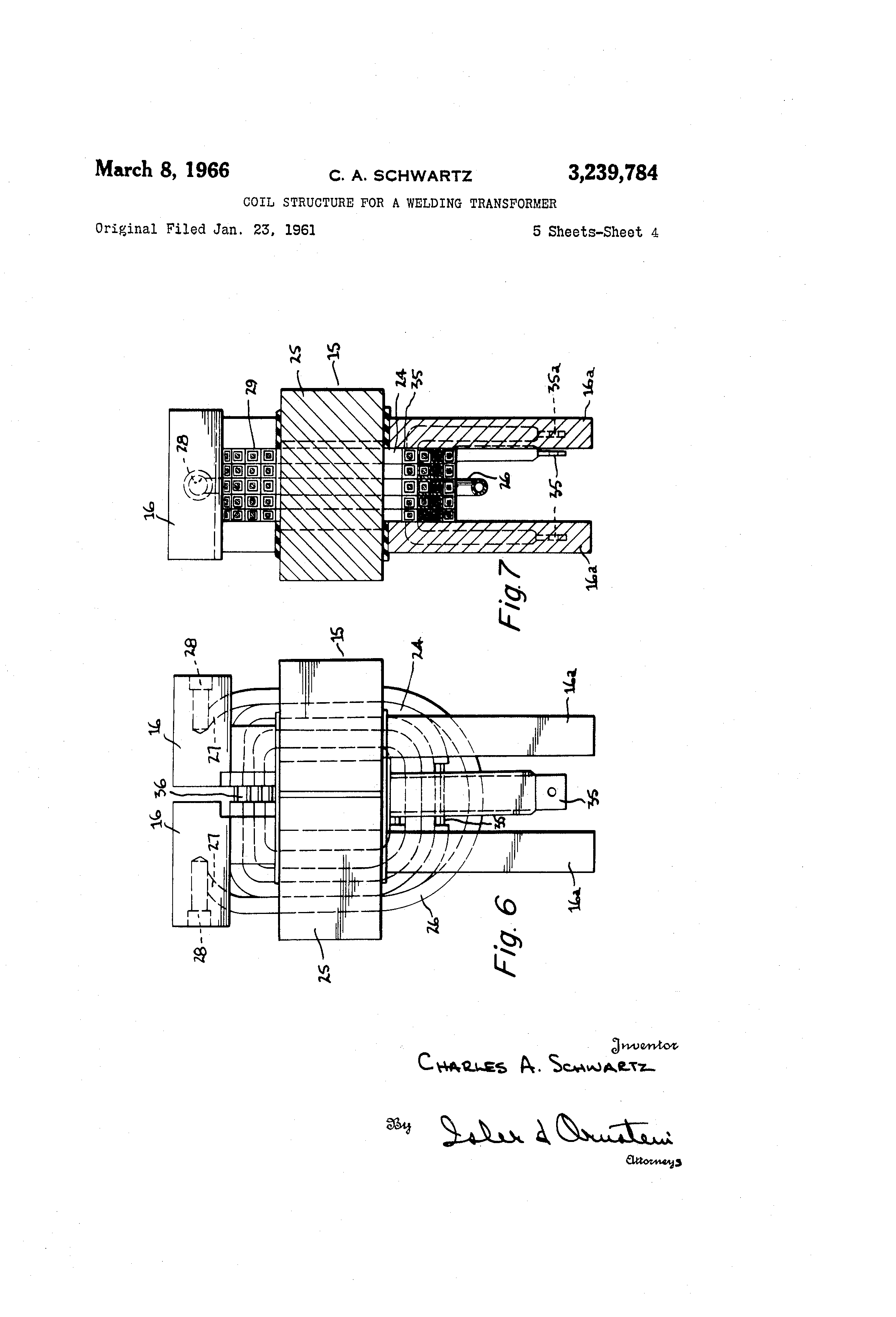Brevet Us3239784 Coil Structure For A Welding Transformer Google 3 Phase Diagram Patent Drawing