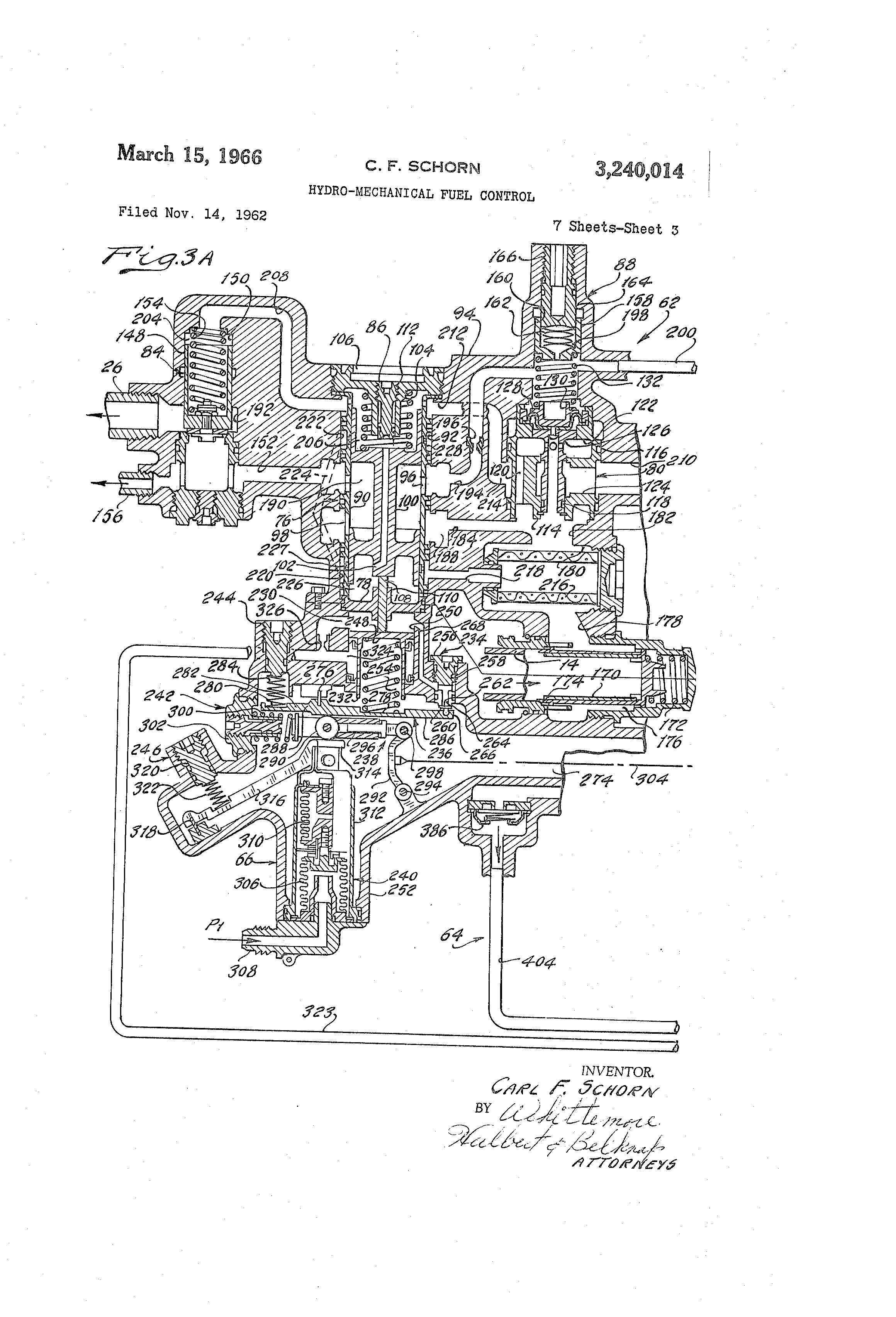 patent us3240014 - hydro-mechanical fuel control
