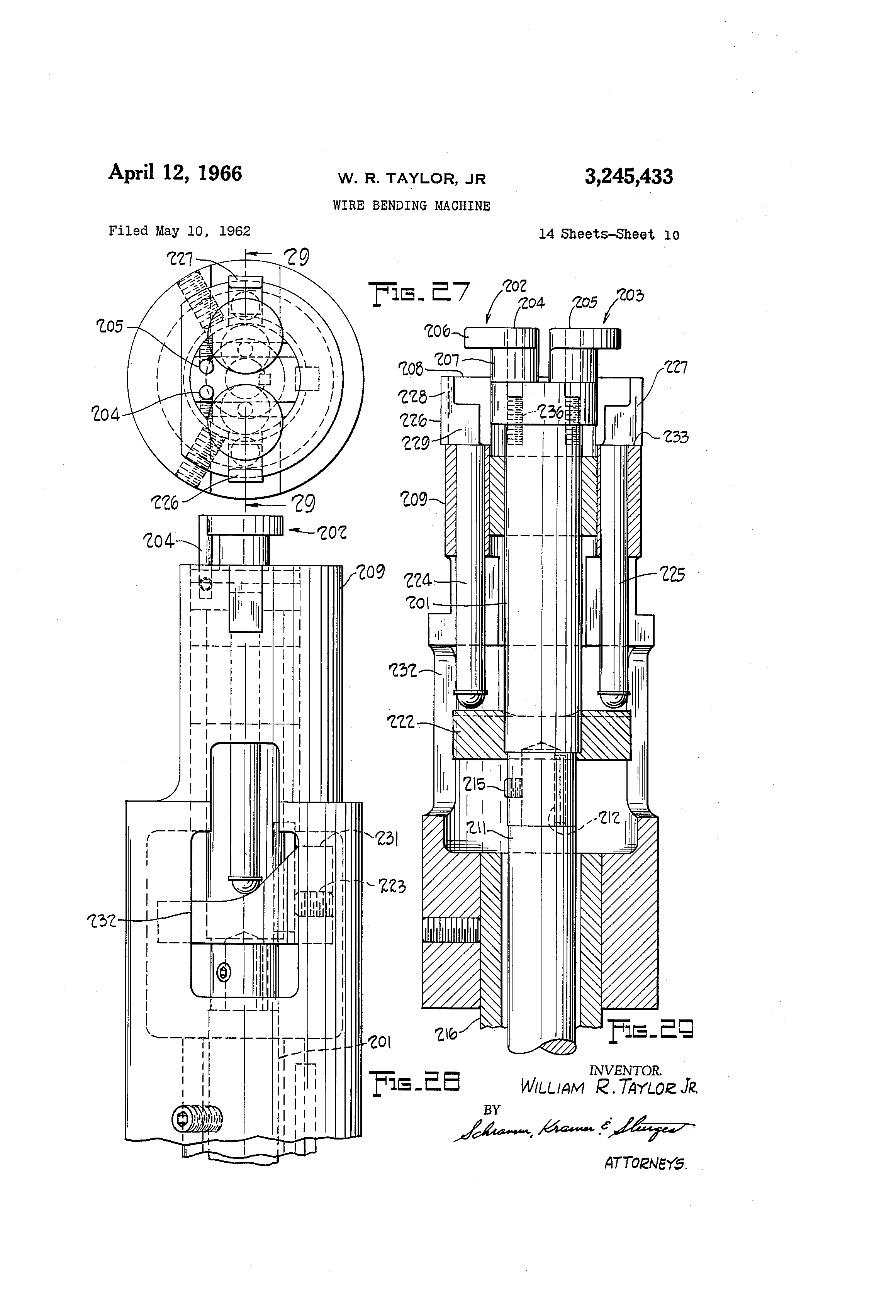 Patent us3245433 wire bending machine google patents patent drawing buycottarizona Choice Image