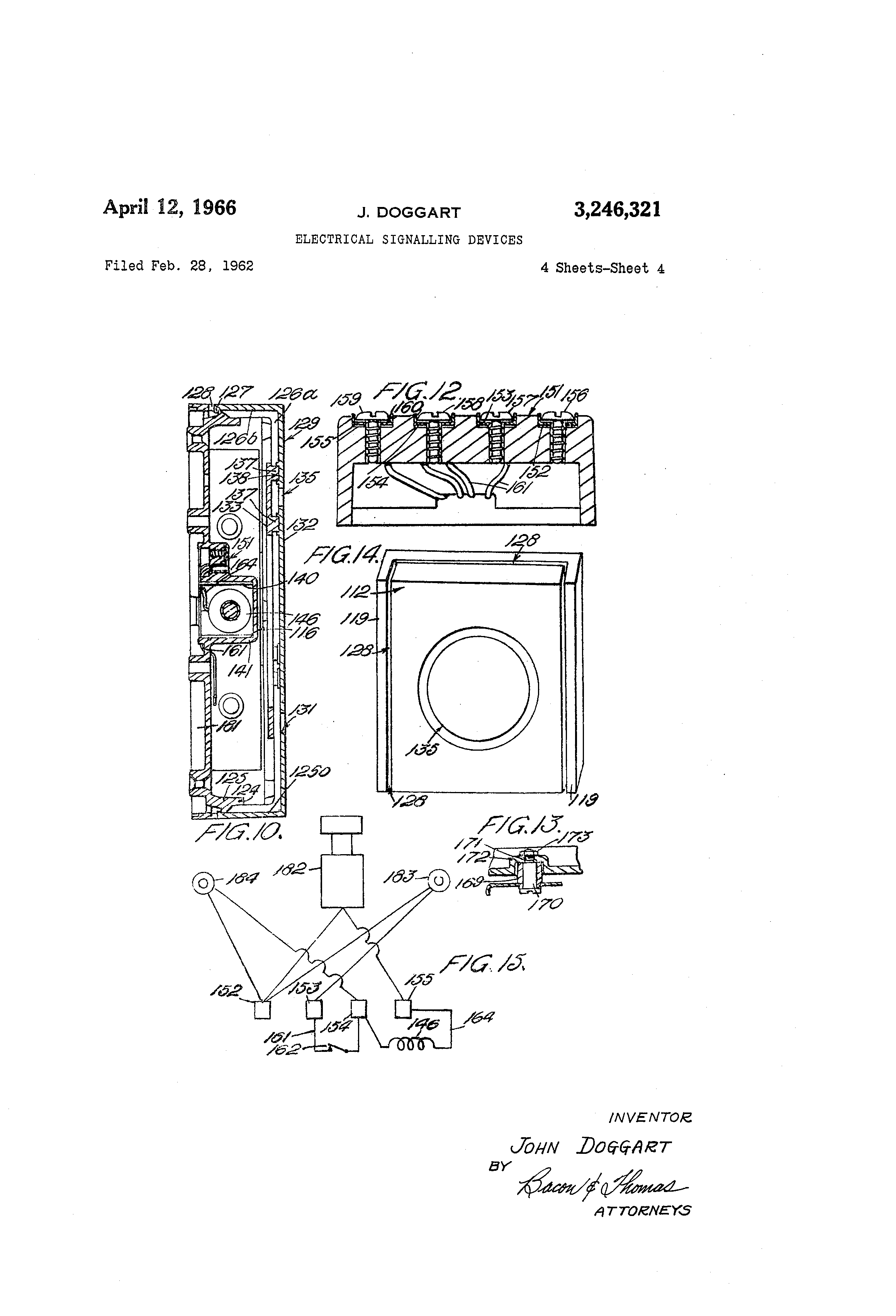 patent us3246321 - electrical signaling devices