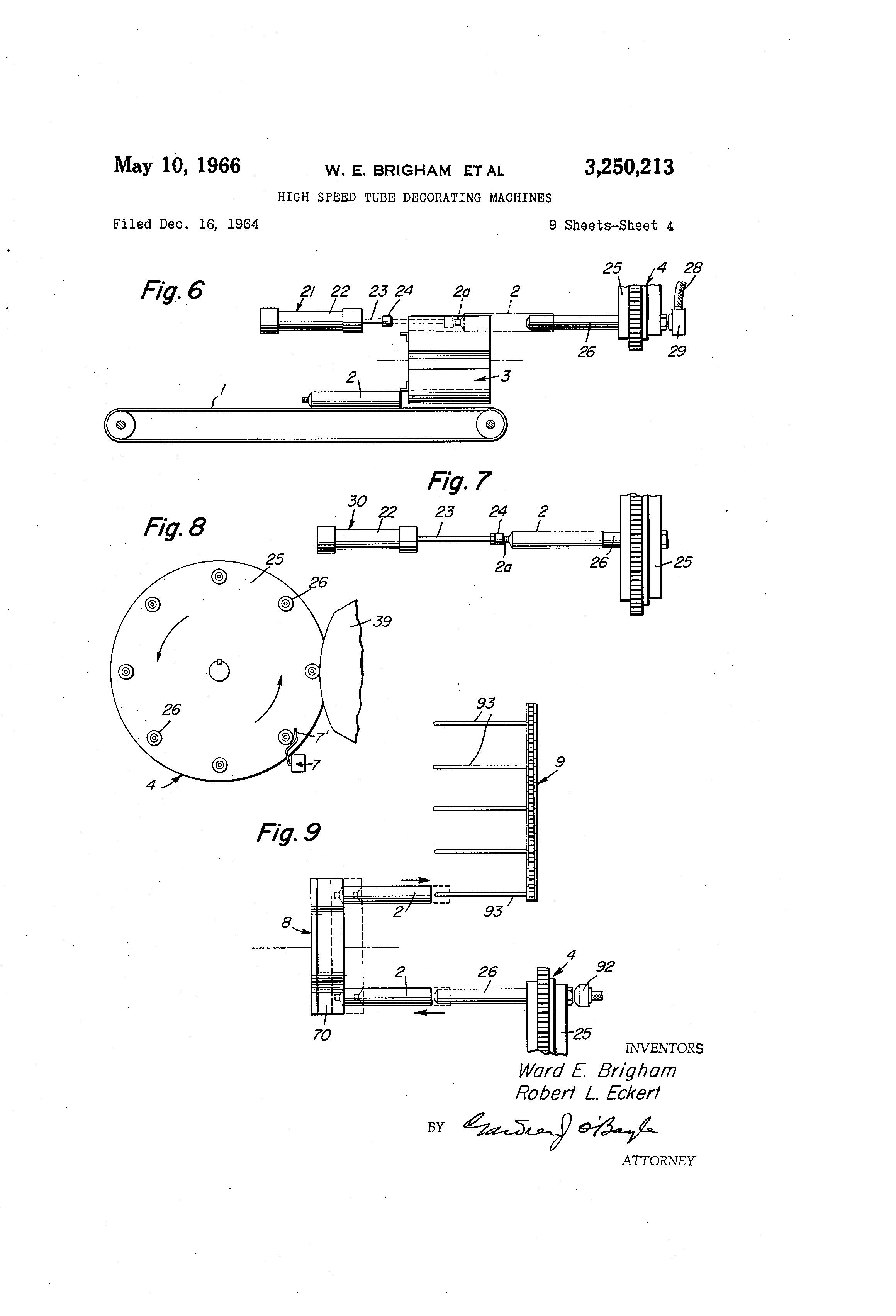 Patent us high speed tube decorating machines