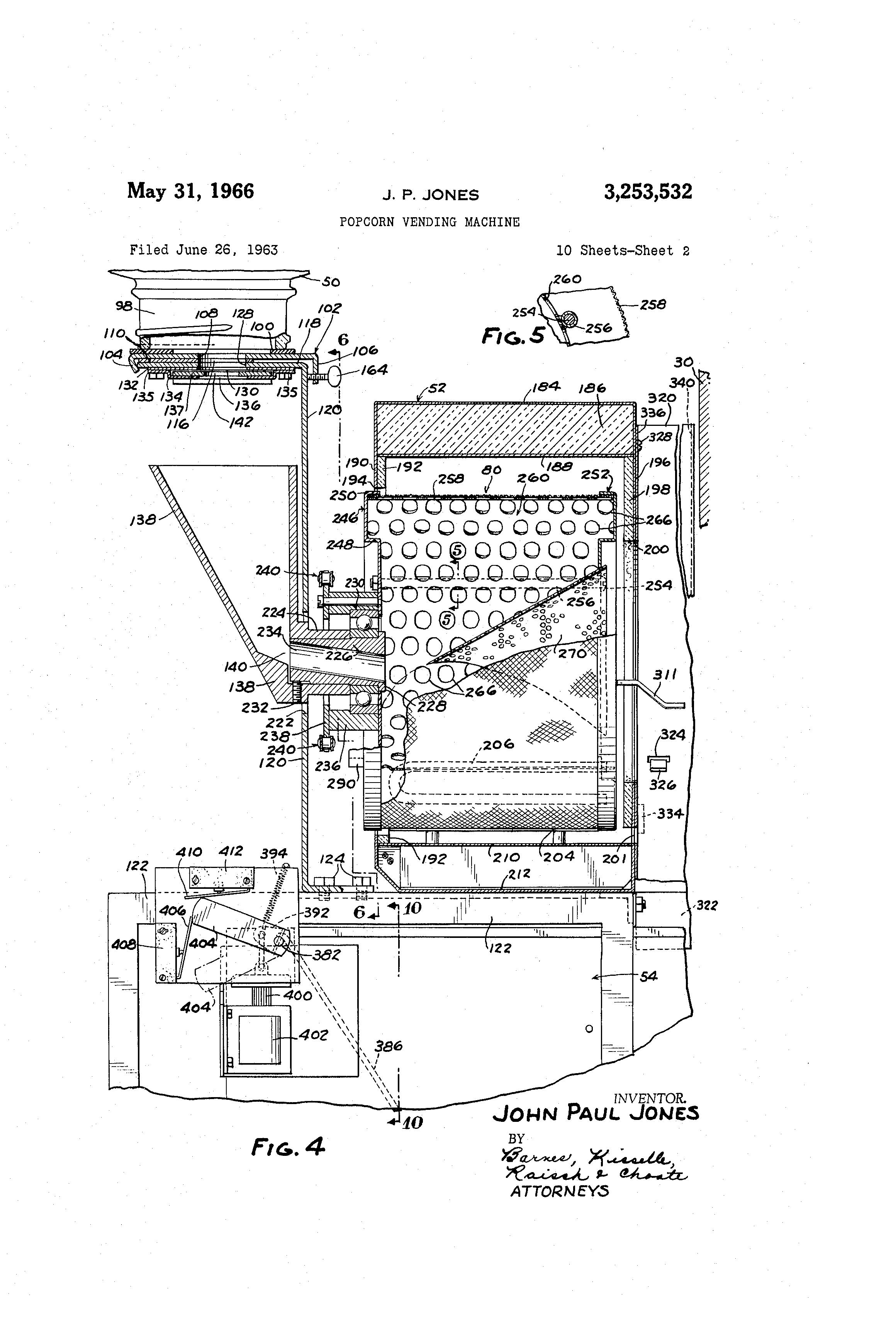 Patente Us3253532 Popcorn Vending Machine Google Patentes Switch Wiring Diagram For 3 Patent Drawing