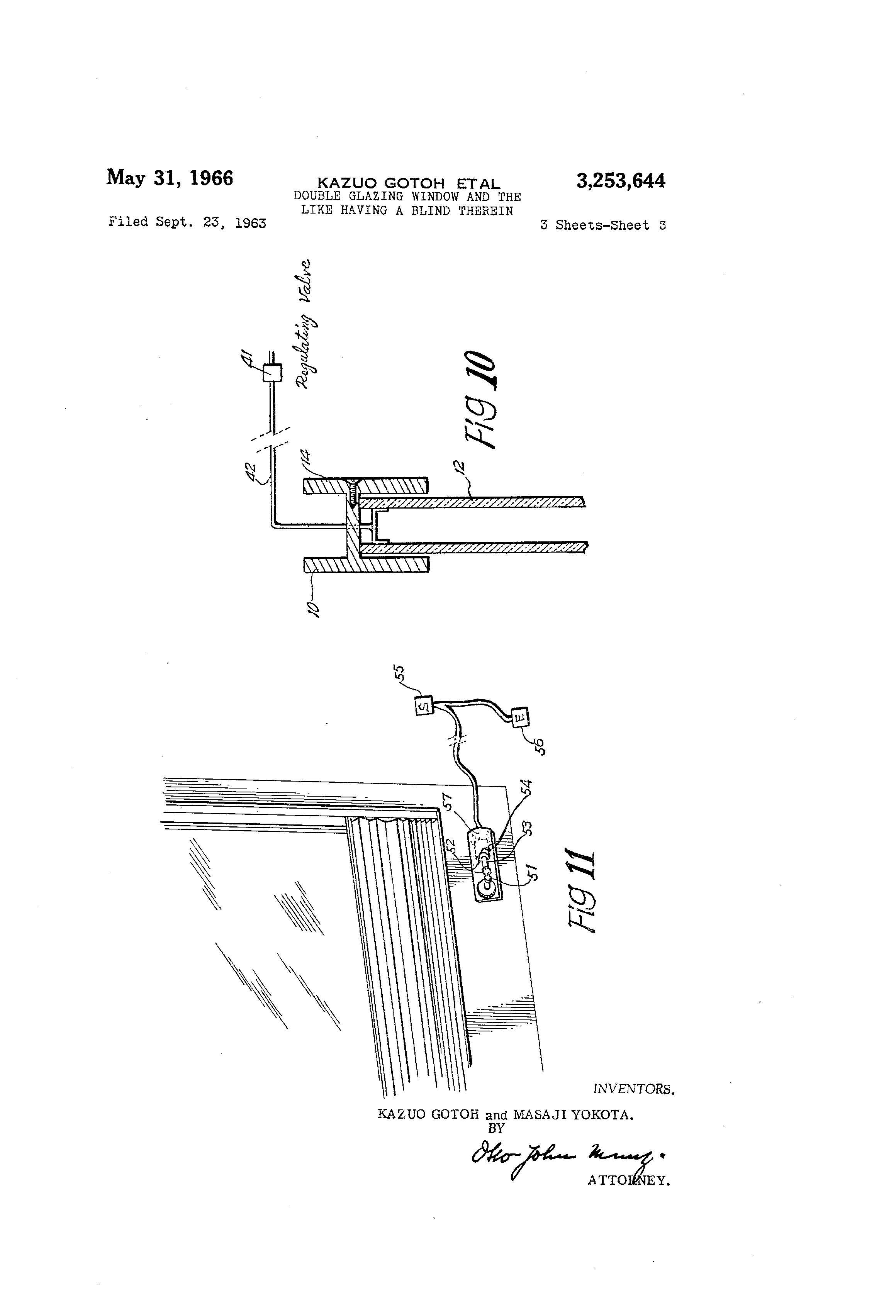 Patent Us3253644 Double Glazing Window And The Like Having A Blind Diagram Drawing