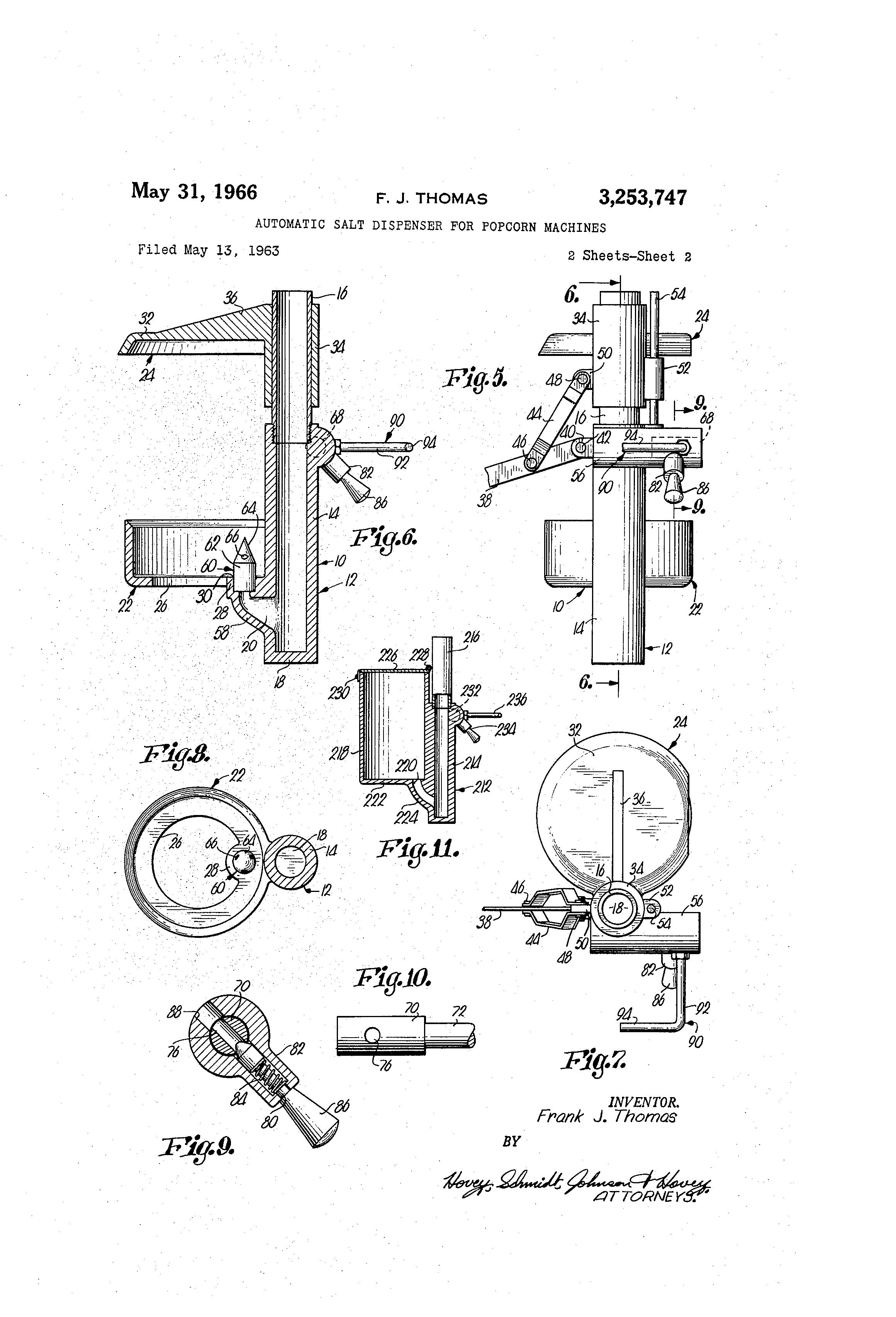Automatic Salt Dispenser ~ Patent us automatic salt dispenser for popcorn