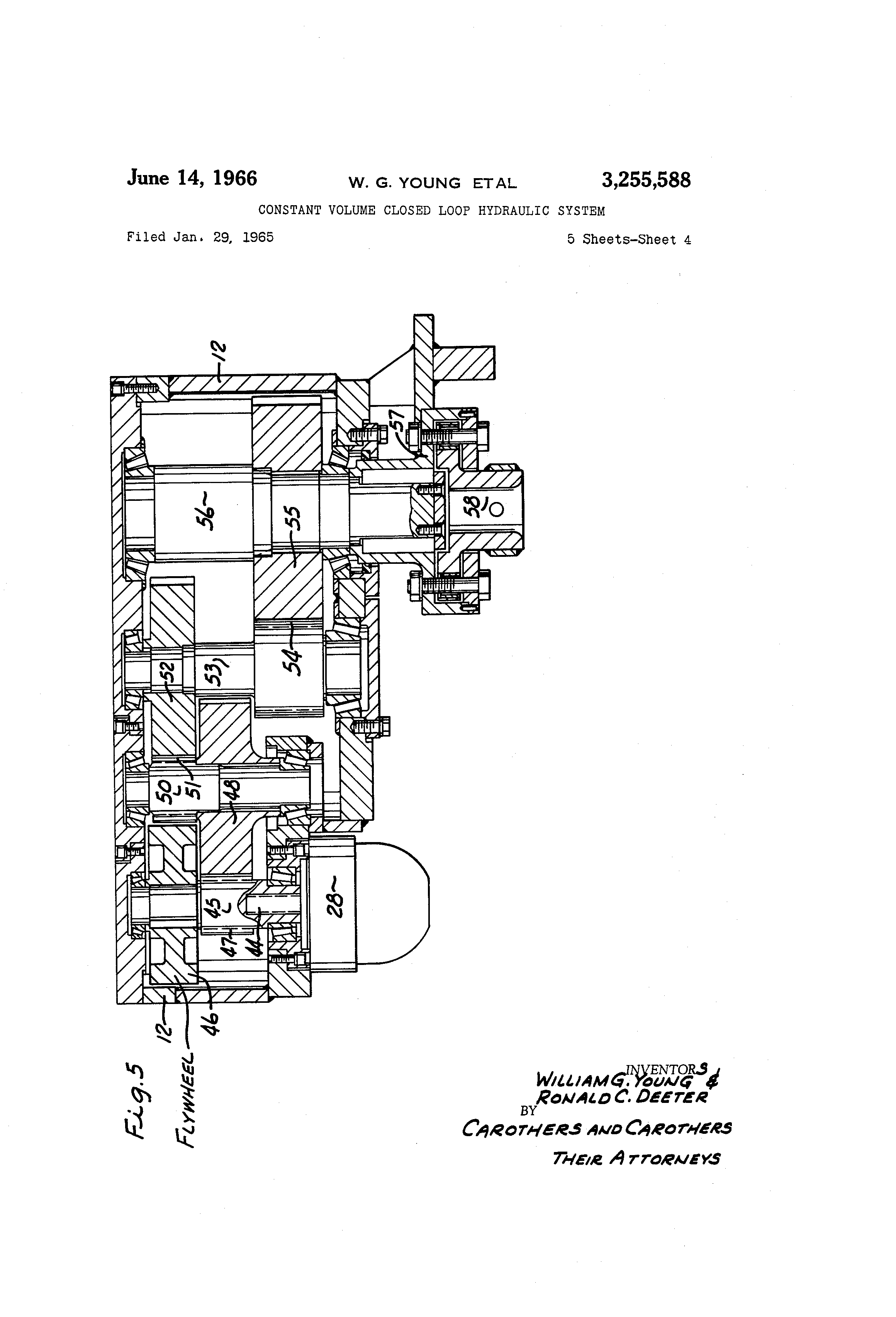 patent us3255588 - constant volume closed loop hydraulic system