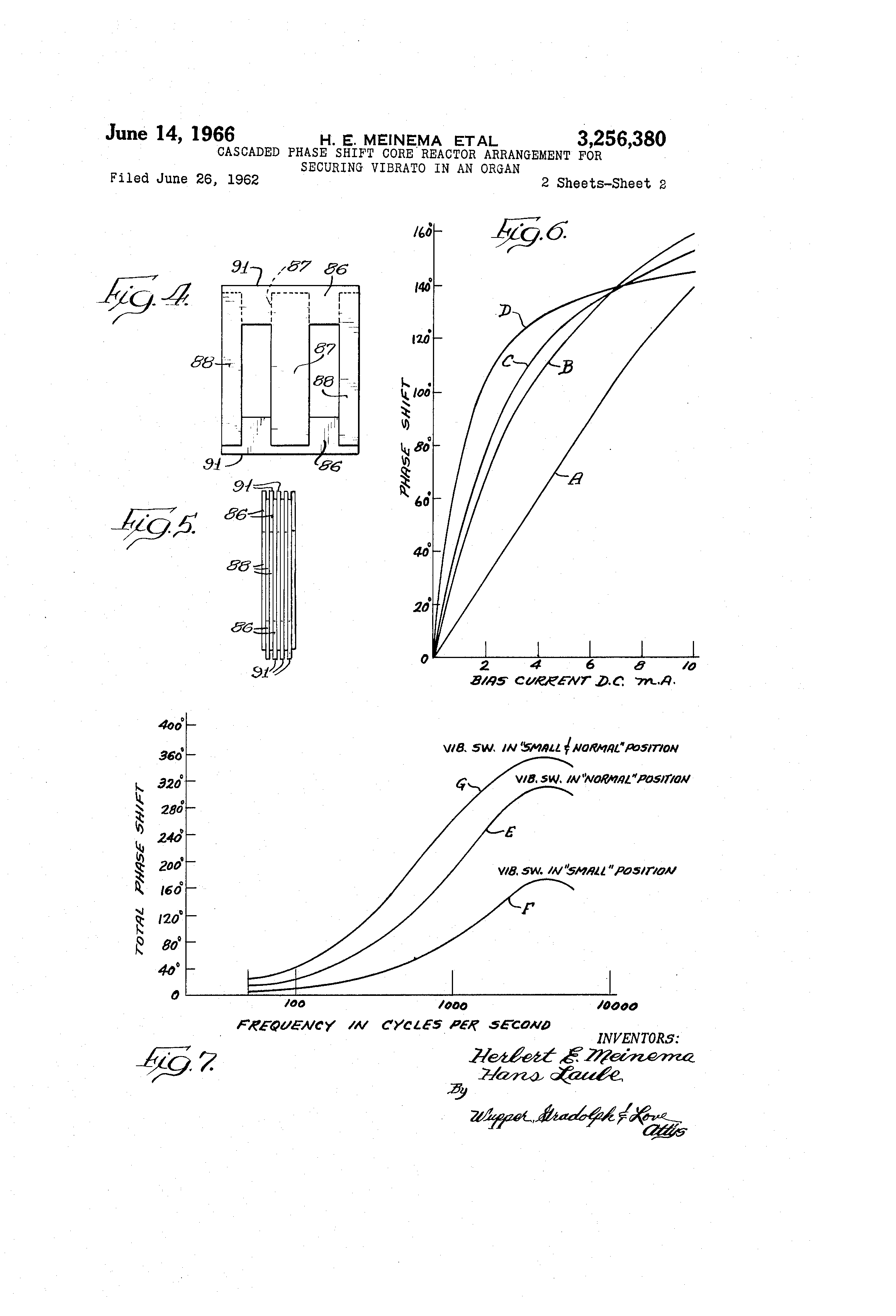 Brevet Us3256380 Cascaded Phase Shift Core Reactor Arrangement For Schematics How Do I Change The Frequency Of This Vibratocircuit Patent Drawing