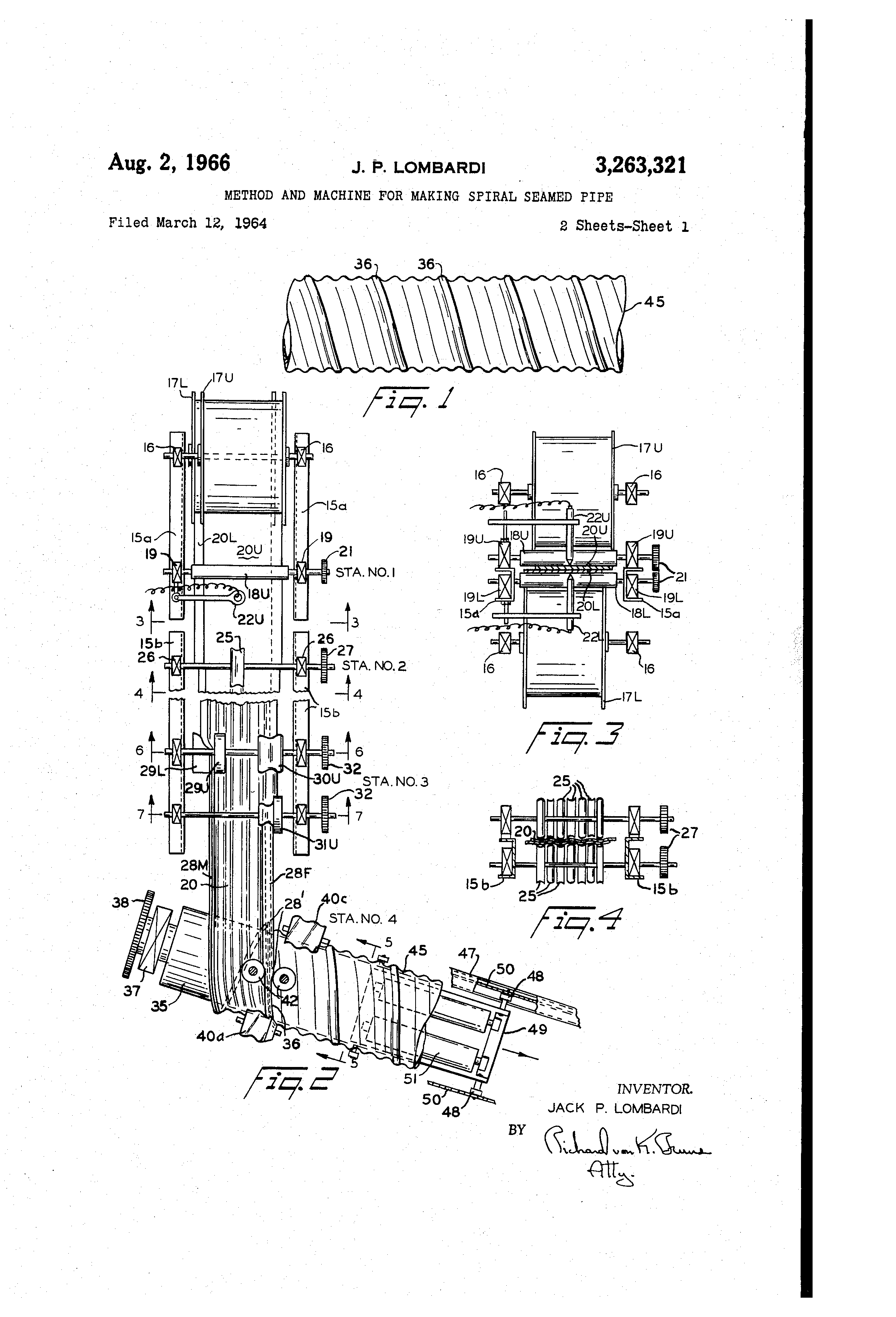 Patent Us3263321 Method And Machine For Making Spiral