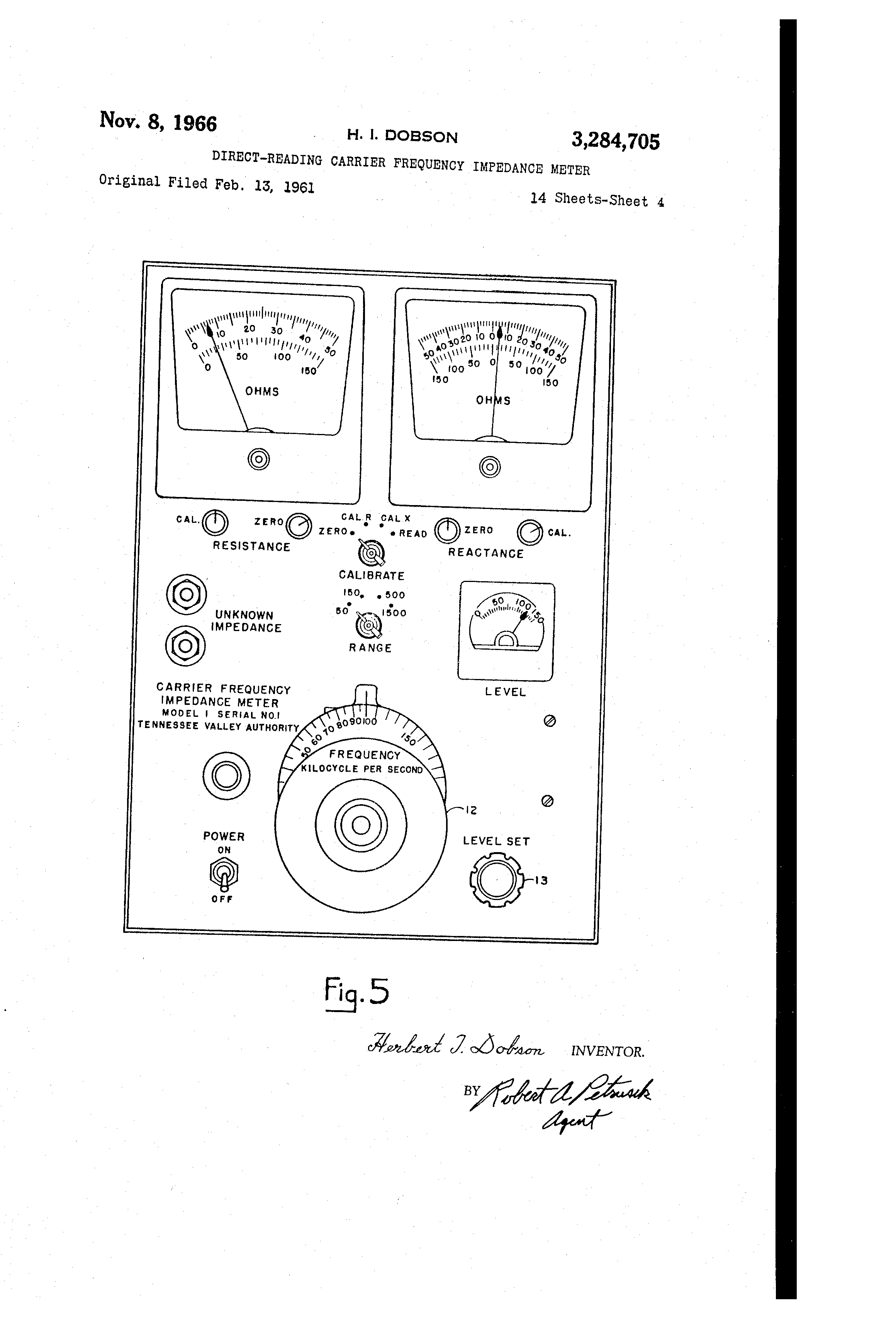Patent Us3284705 Direct Reading Carrier Frequency Impedance Meter Qm Series Wiring Diagrams Drawing