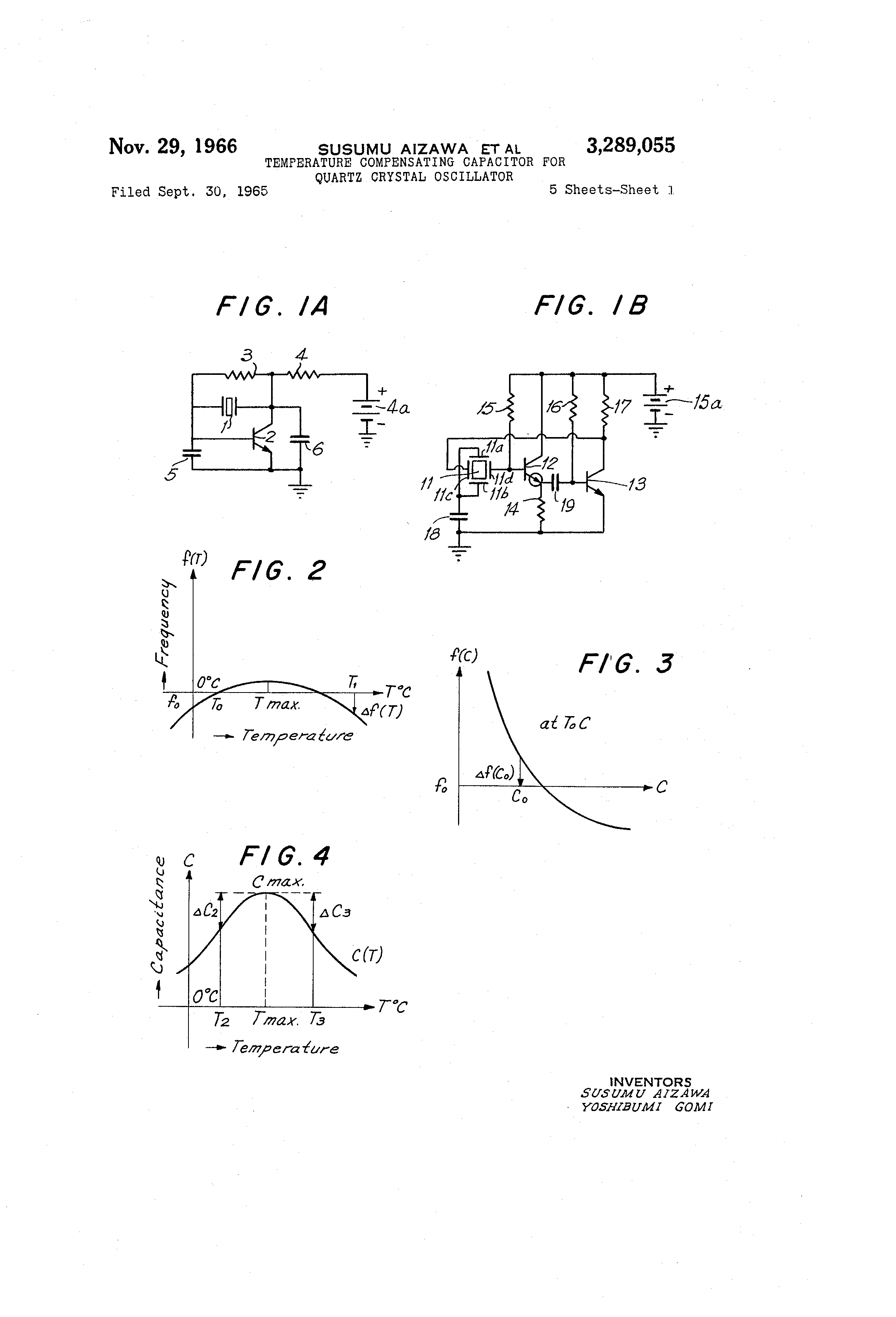 Patent Us3289055 Temperature Compensating Capacitor For Quartz This Circuit Is A Crystal Oscillator Can Be Regarded Drawing