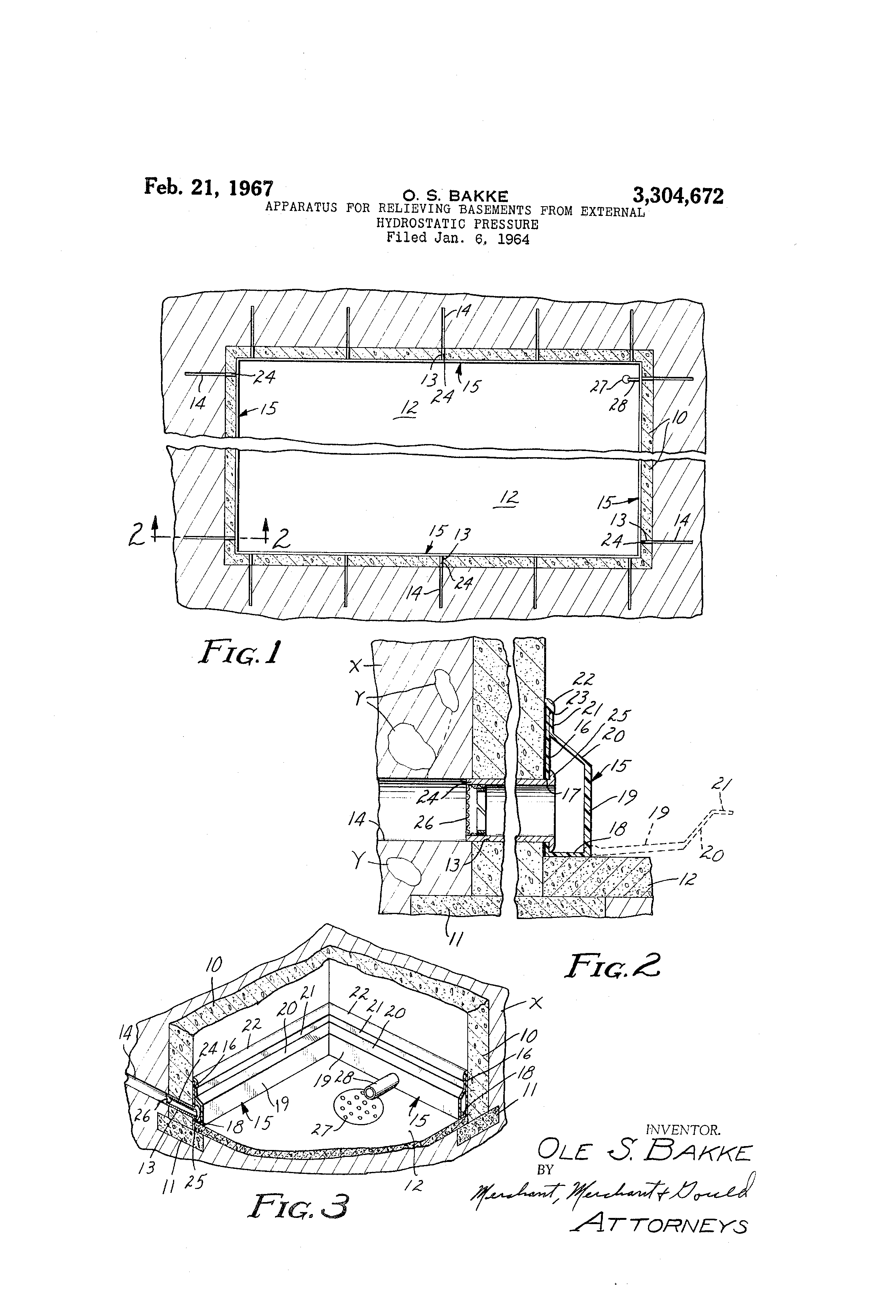 basements from external hydrostatic pressure google patents