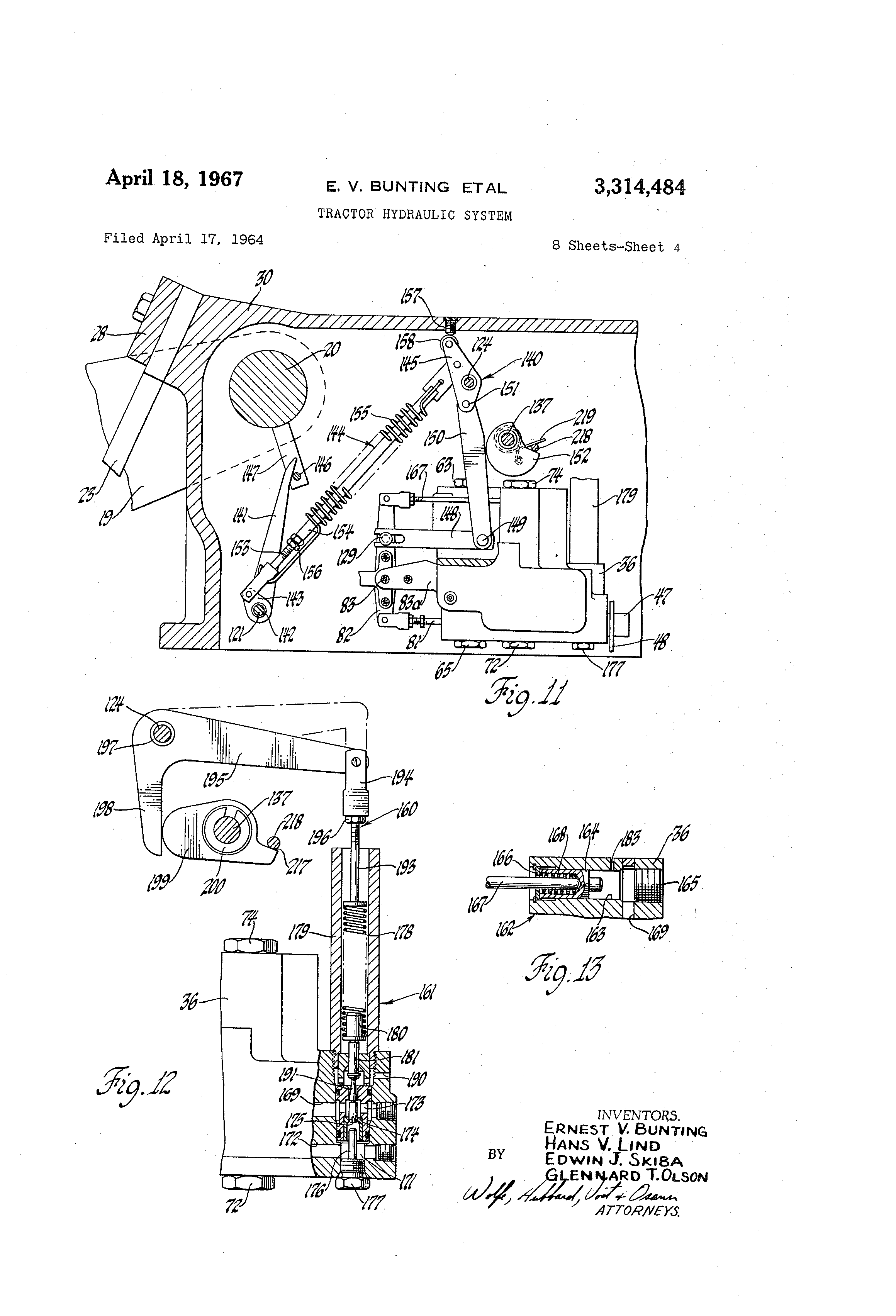 patent us3314484 tractor hydraulic system patents