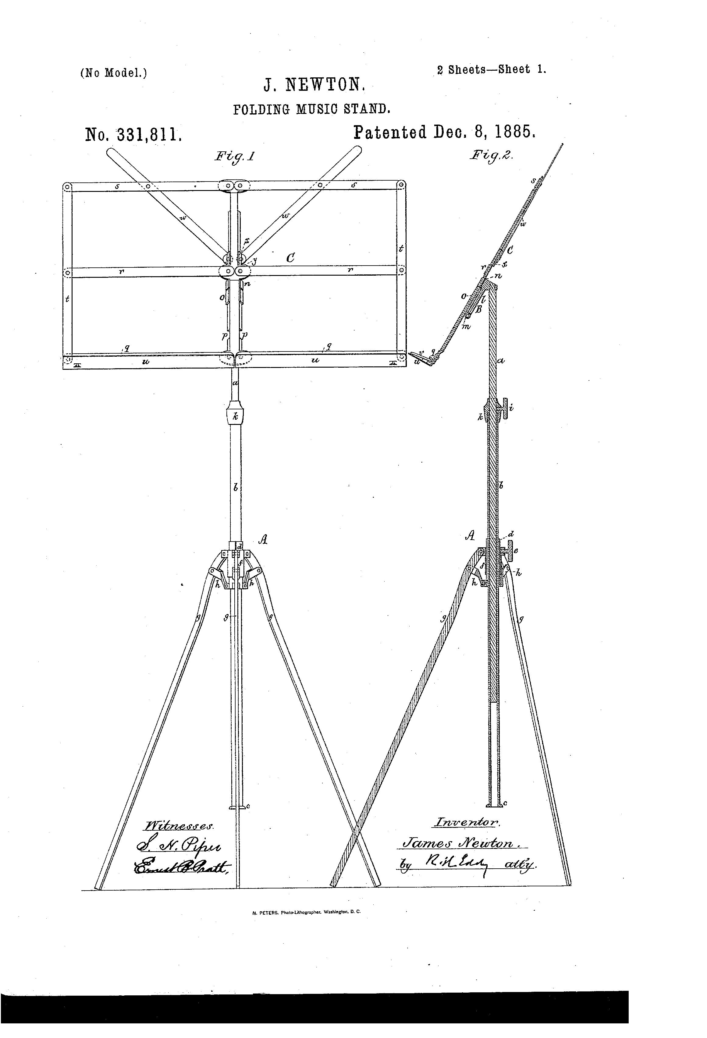 Patent Us331811 Folding Music Stand Google Patents
