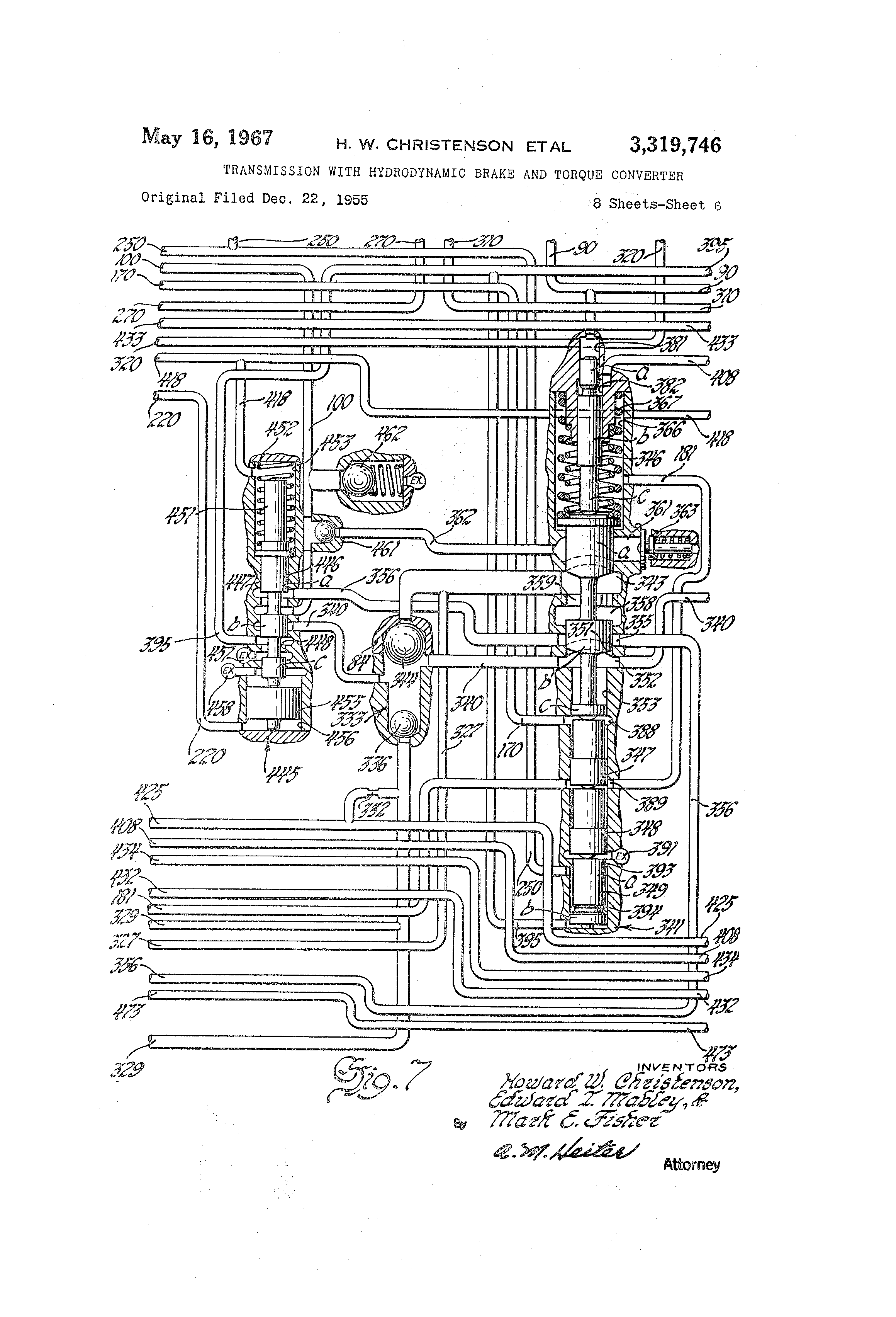 Patent Us3319746 Transmission With Hydrodynamic Brake And Torque Apparatus On 424 International Tractor Hydraulics Diagram Drawing