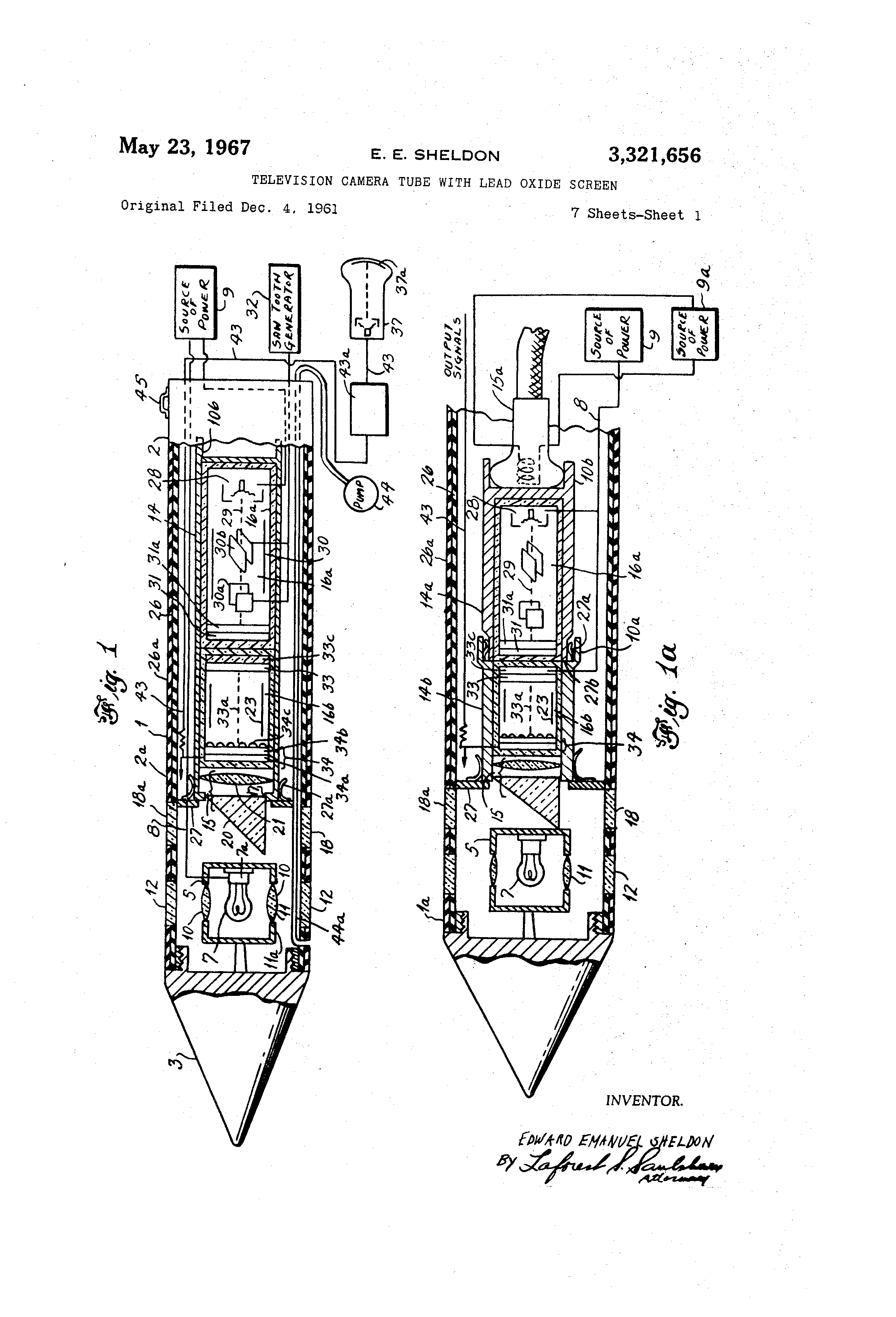 Patent Us3321656 Television Camera Tube With Lead Oxide Screen Onetube Transmitter Schematic Diagrams And Circuit Descriptions Drawing