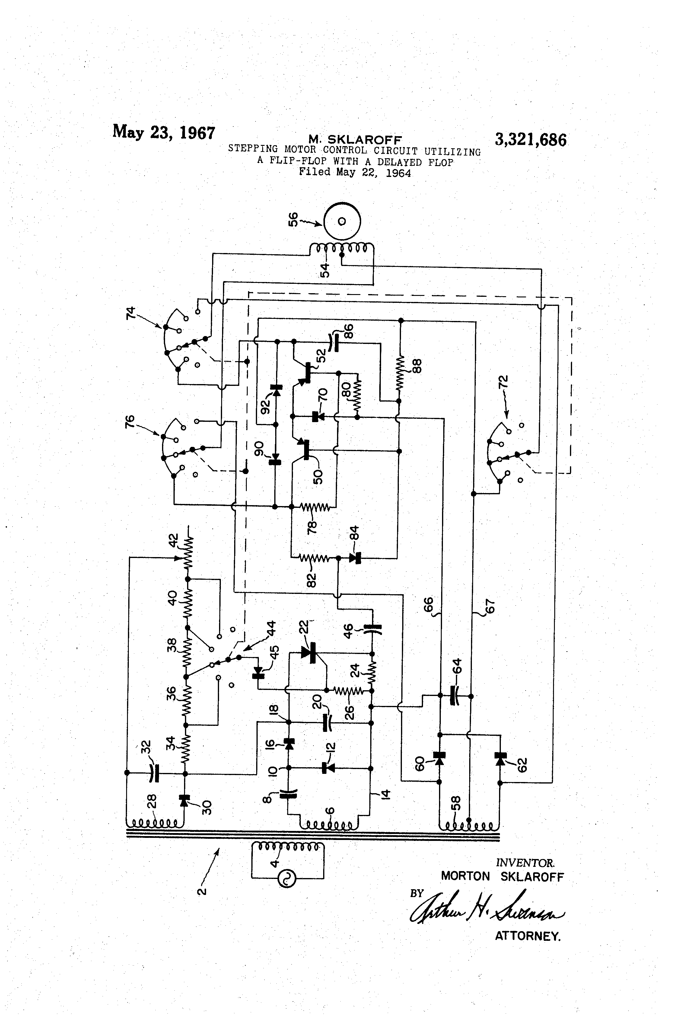 Patent Us3321686 Stepping Motor Control Circuit Utilizing A Flip How To Build Monostable Flop Drawing