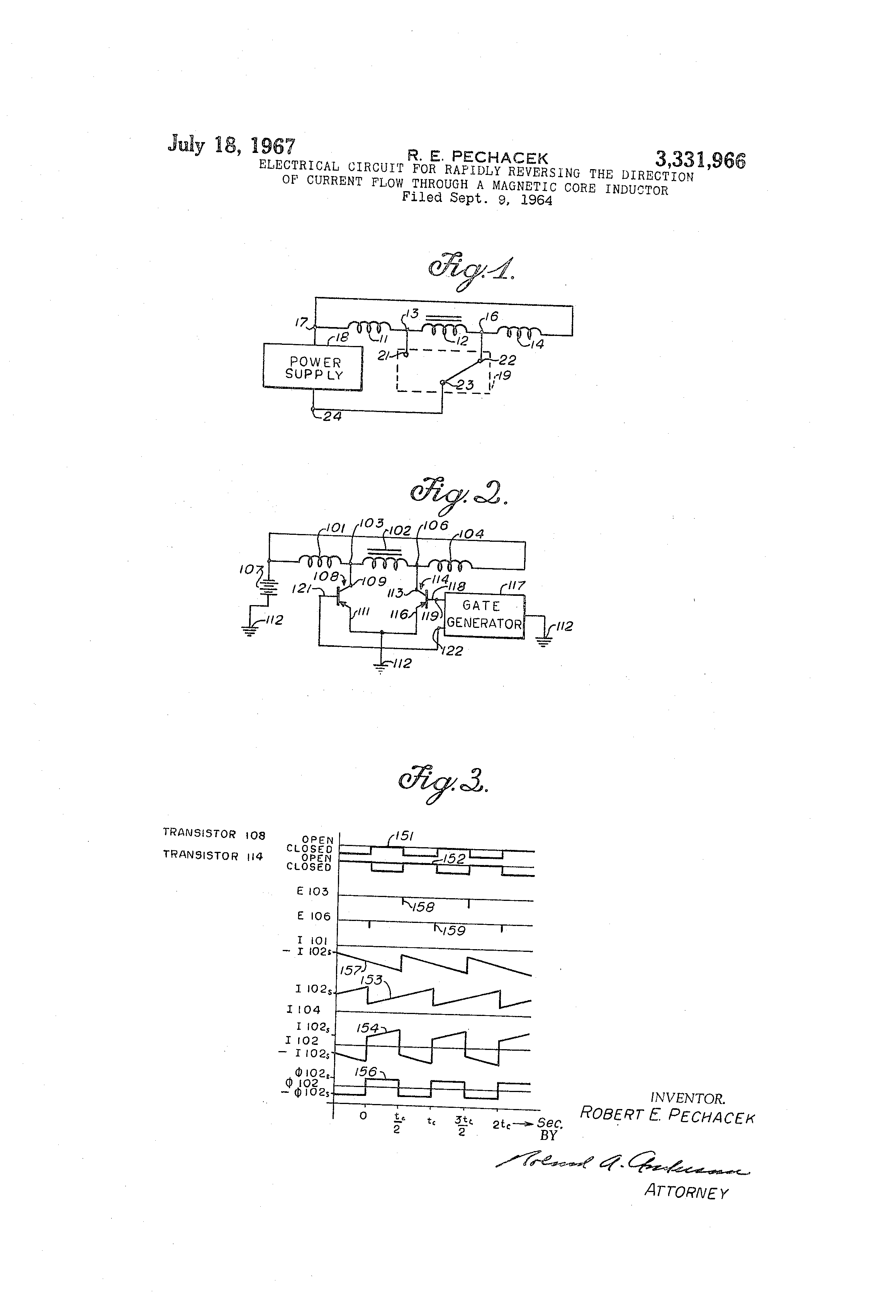 Patent Us3331966 Electrical Circuit For Rapidly Reversing The Direction Of Current In A Drawing