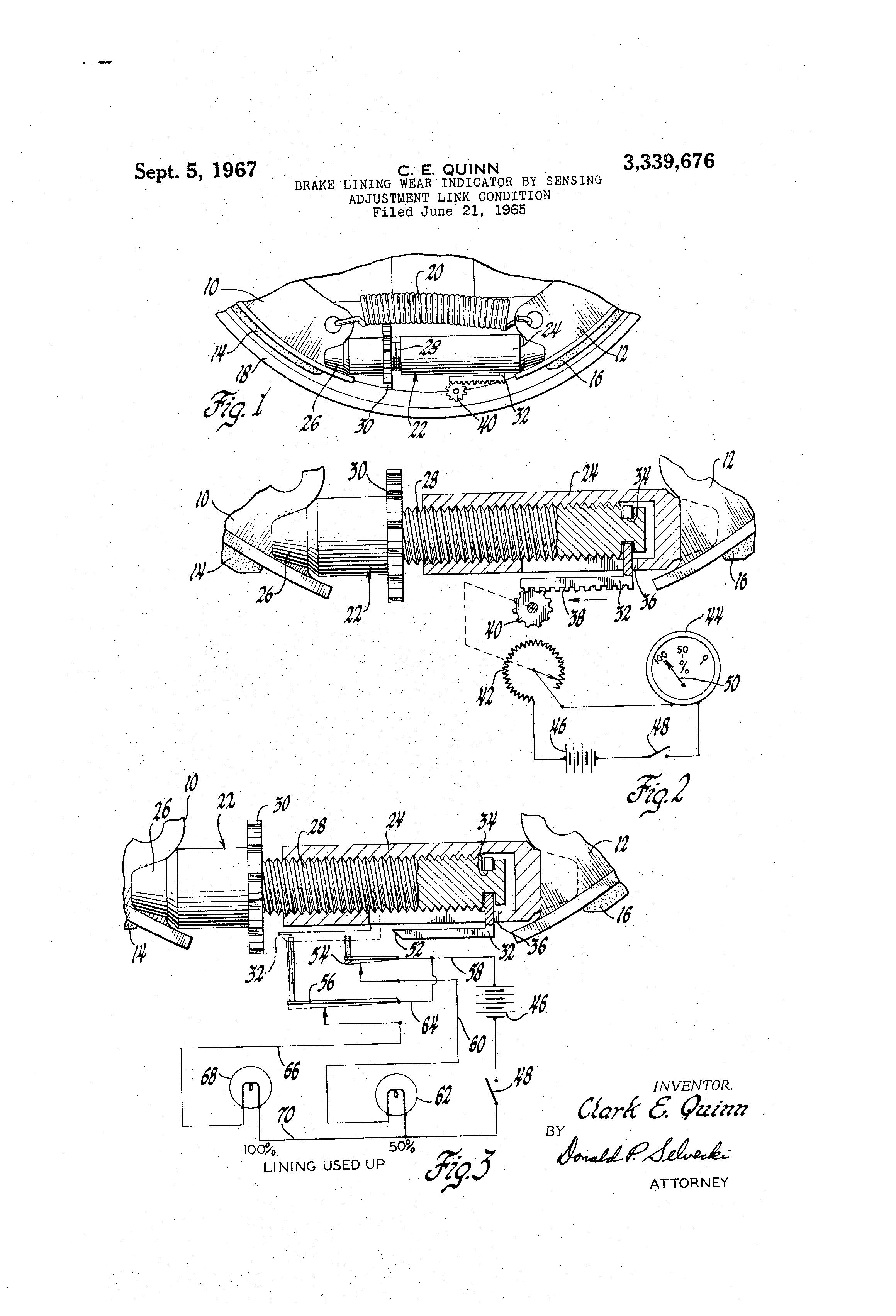 Brake Lining Draw : Patent us brake lining wear indicator by sensing