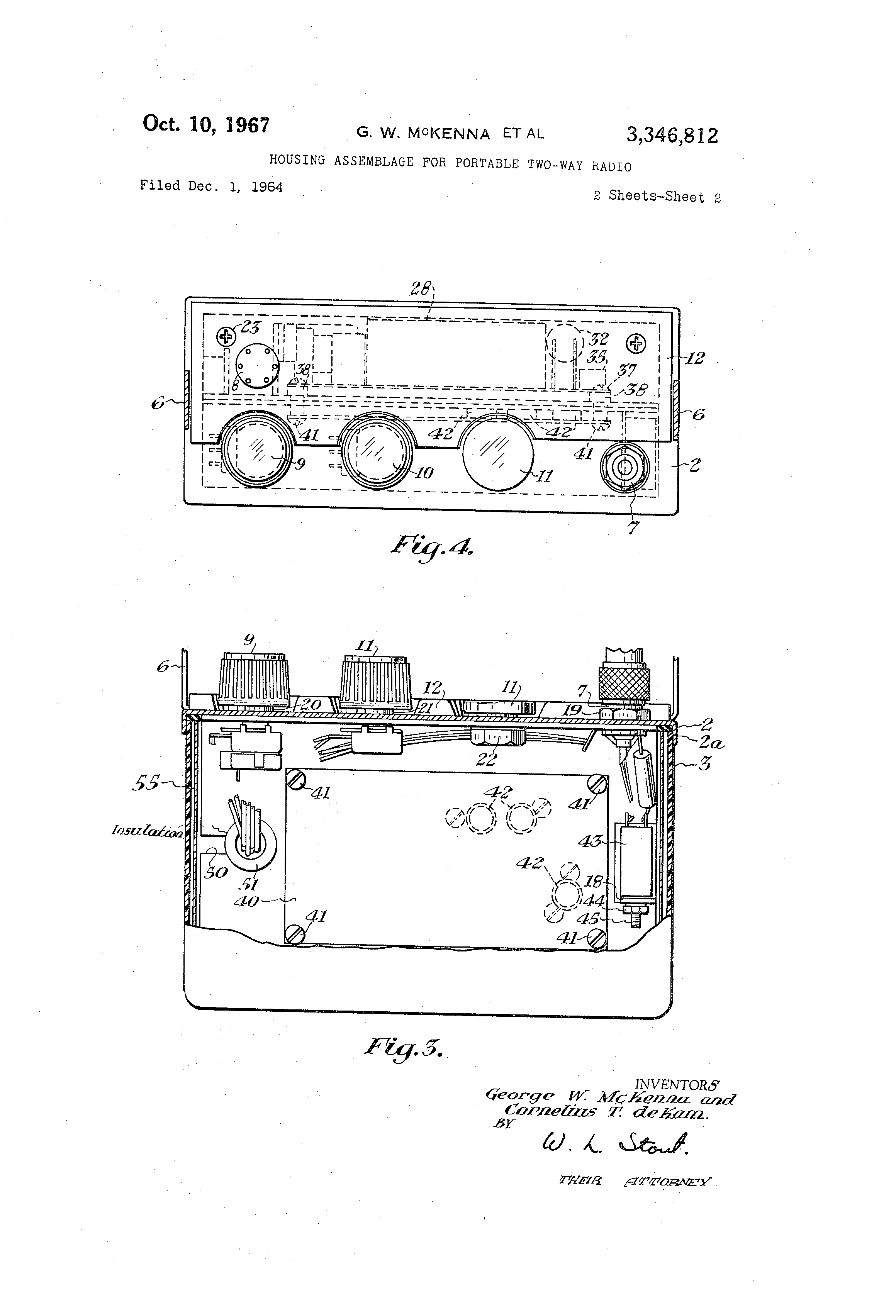 Patent Us3346812 Housing Assemblage For Portable Two Way Radio Figs 1and 2 Shows Transmitter And Receiver Circuit Respectivelythe Drawing